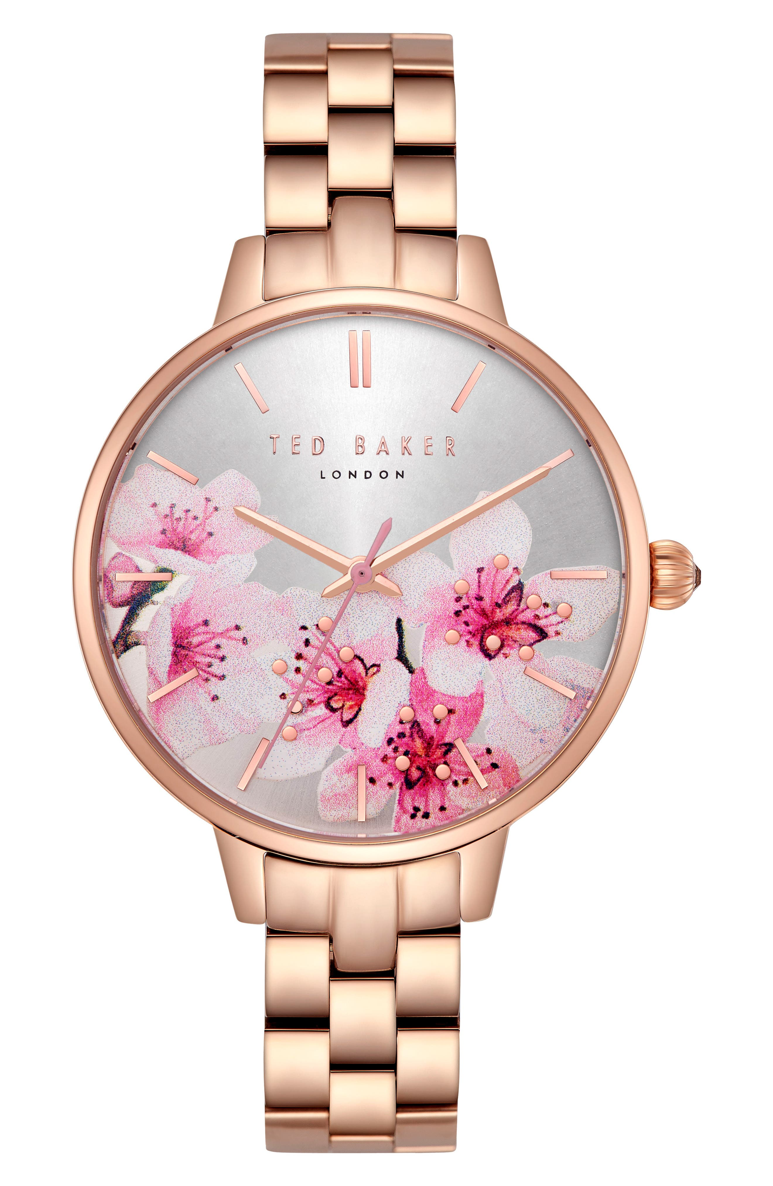 Kate Bracelet Watch, 36mm,                             Main thumbnail 1, color,                             Rose Gold/ Printed/ Rose Gold
