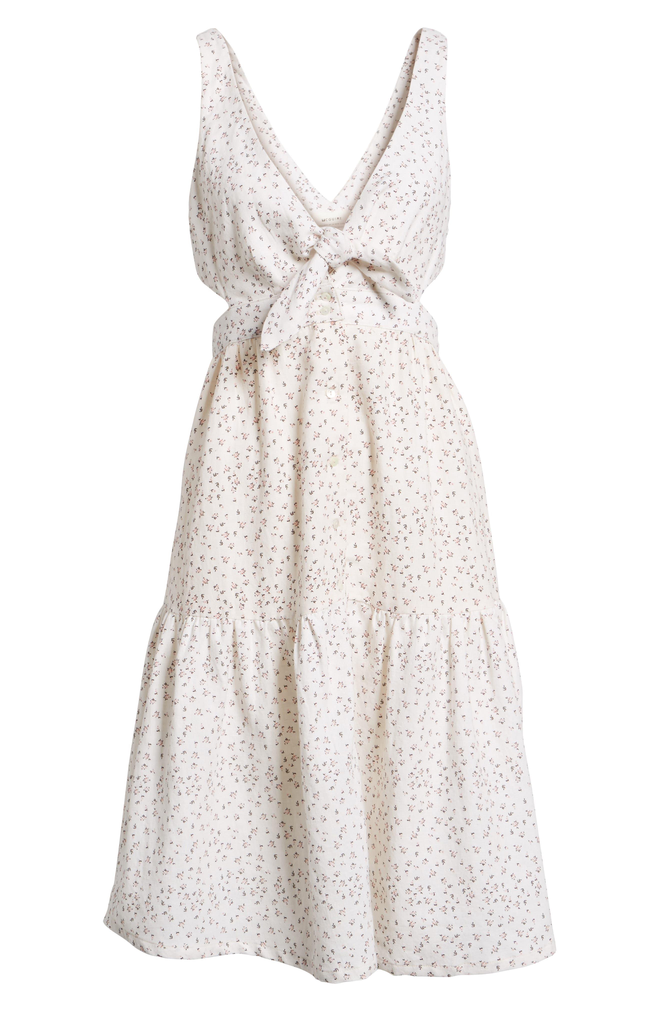 Alternate Image 6  - McGuire Palizzi Cutout Tie Front Dress