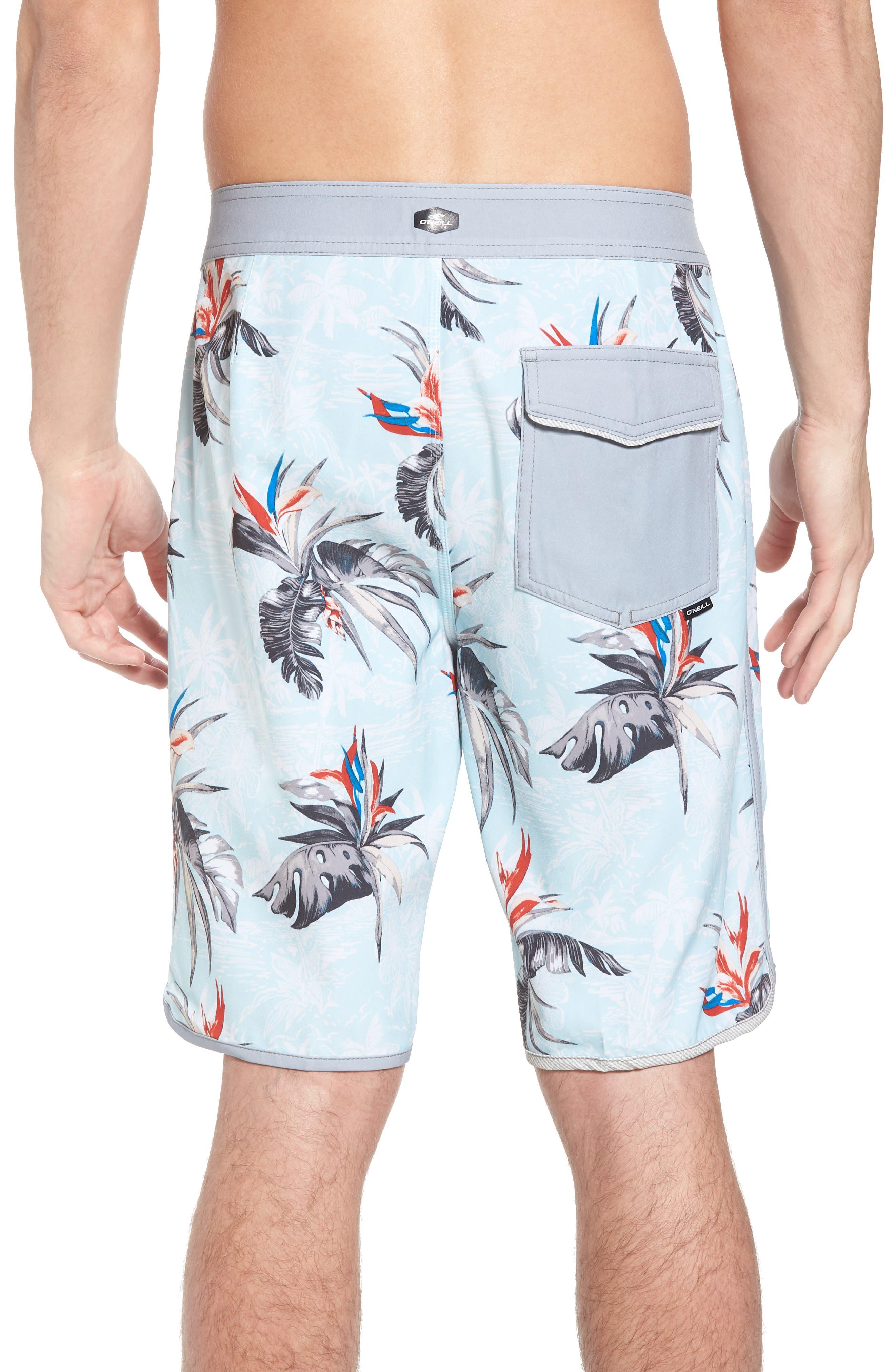Hyperfreak Islander Board Shorts,                             Alternate thumbnail 2, color,                             Ice Blue