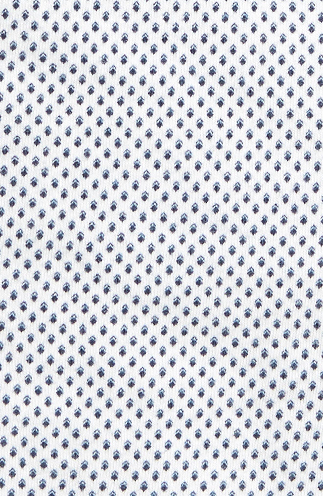 Reworked Slim Fit Diamond Print Sport Shirt,                             Alternate thumbnail 5, color,                             White/ Navy