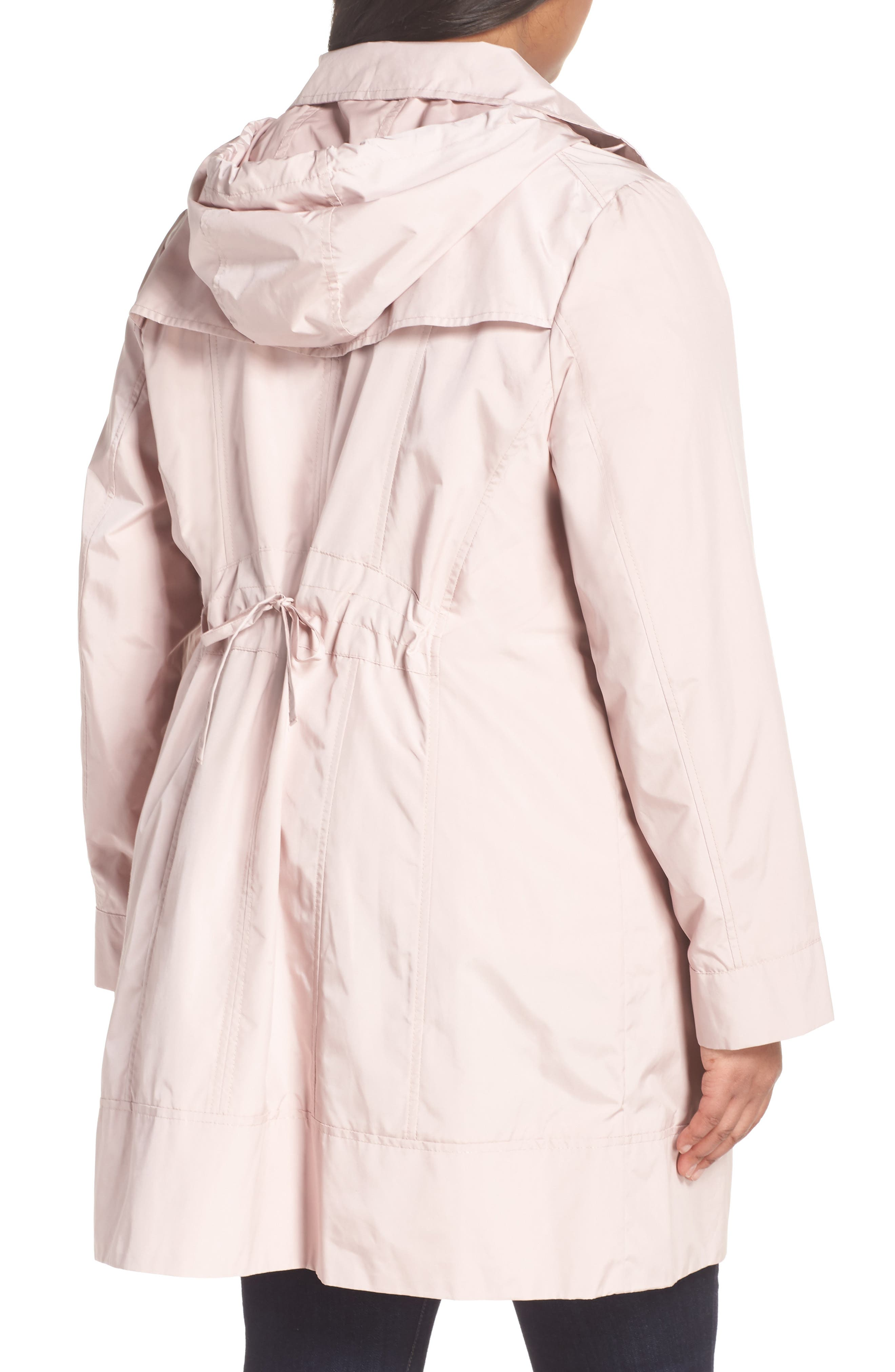 Cole Haan Water Resistant Rain Jacket,                             Alternate thumbnail 2, color,                             Canyon Rose