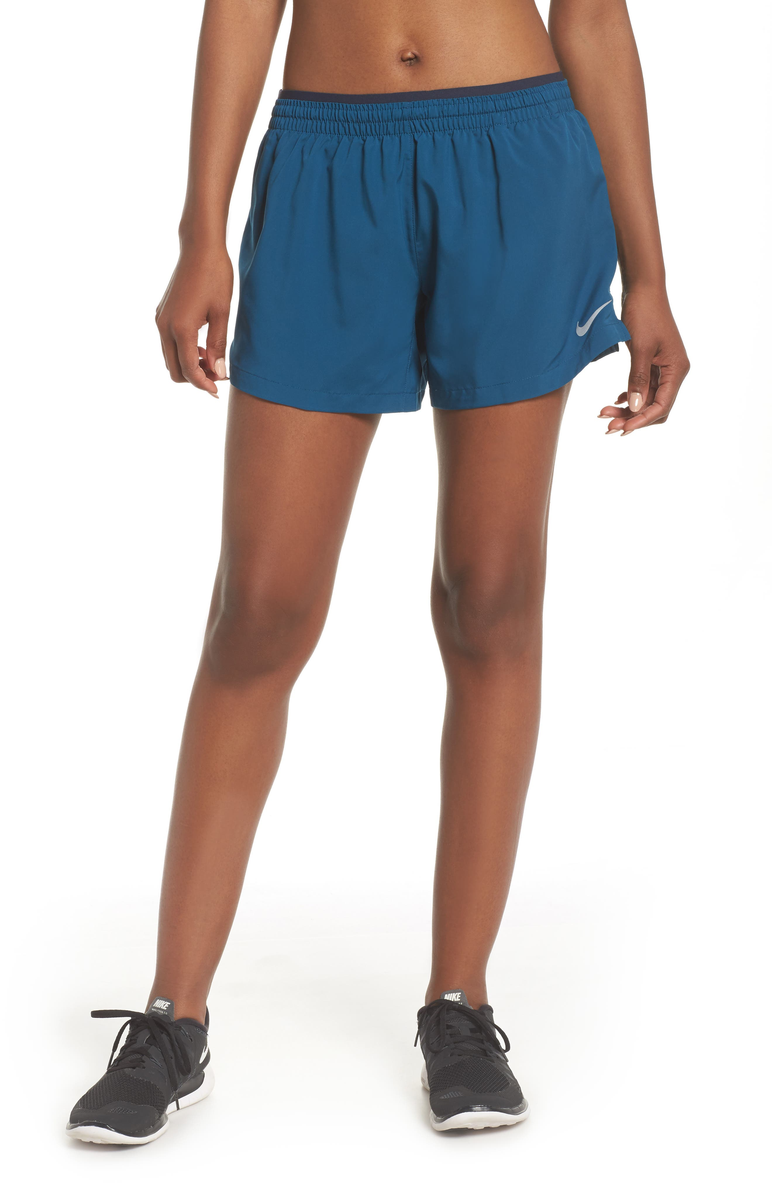 Flex Running Shorts,                             Main thumbnail 1, color,                             Blue Force/ Obsidian