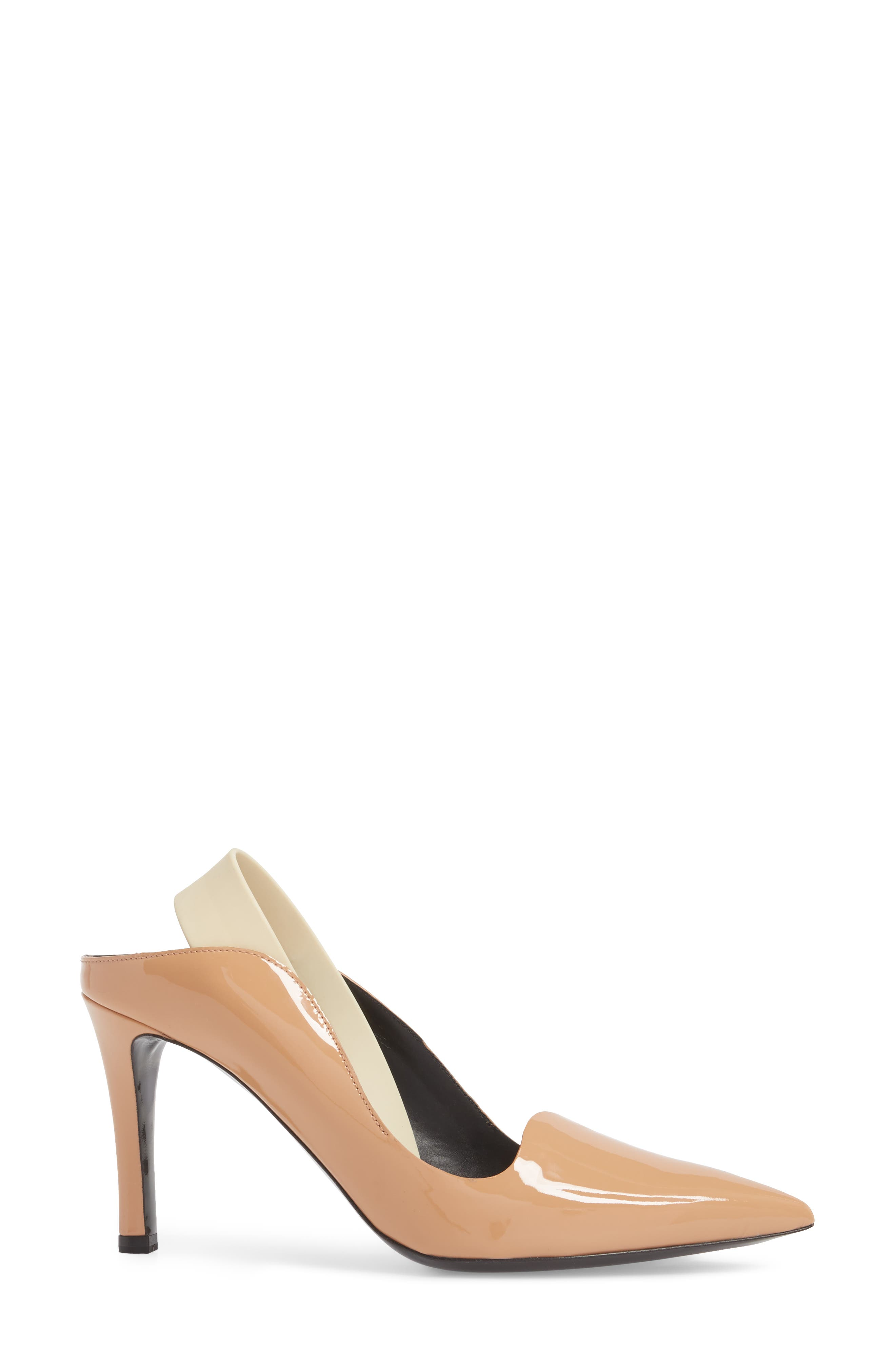 Wave Slingback Pump,                             Alternate thumbnail 3, color,                             Nude