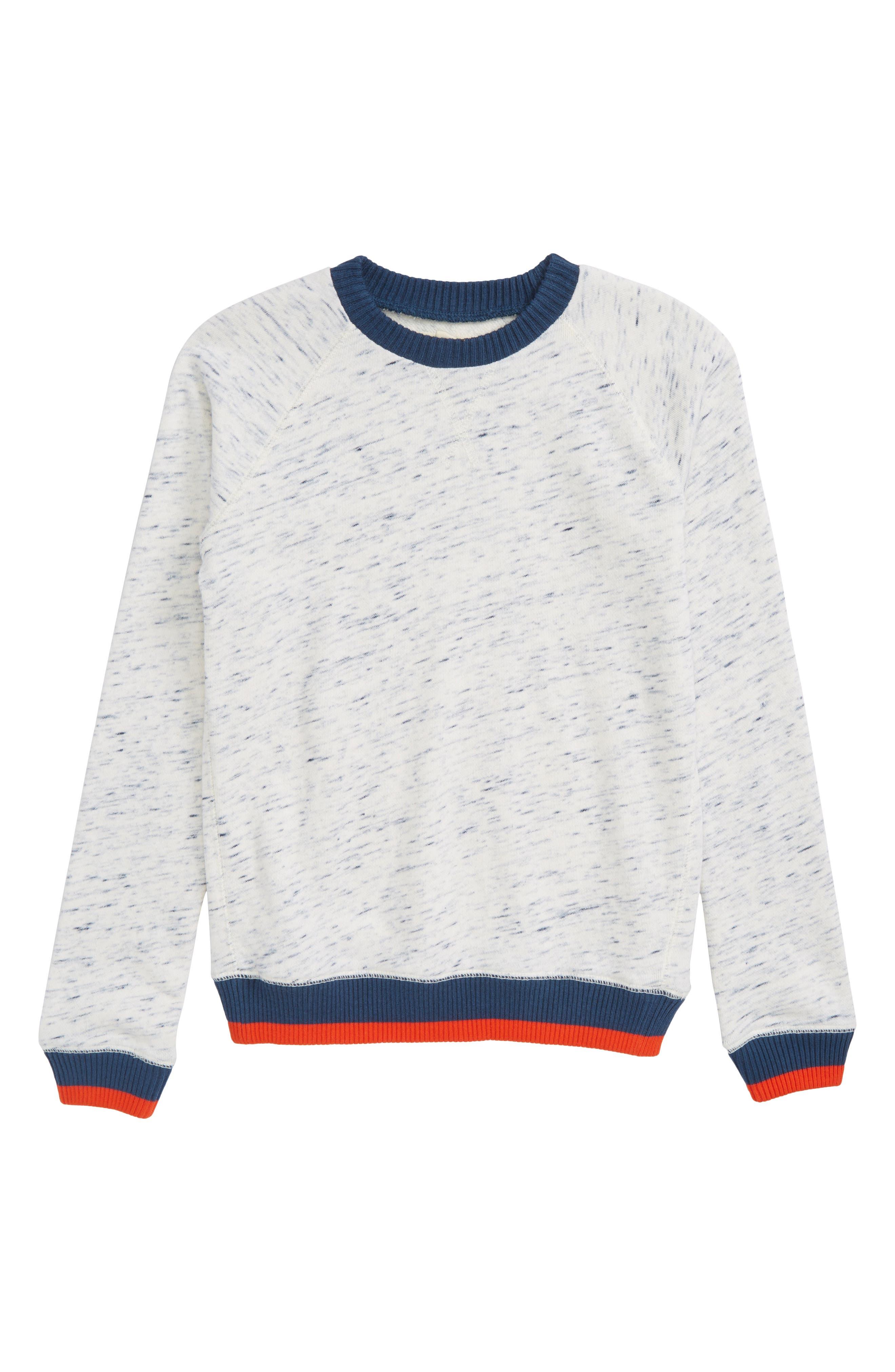 Stripe Raglan Sweater,                             Main thumbnail 1, color,                             Grey Ash Heather