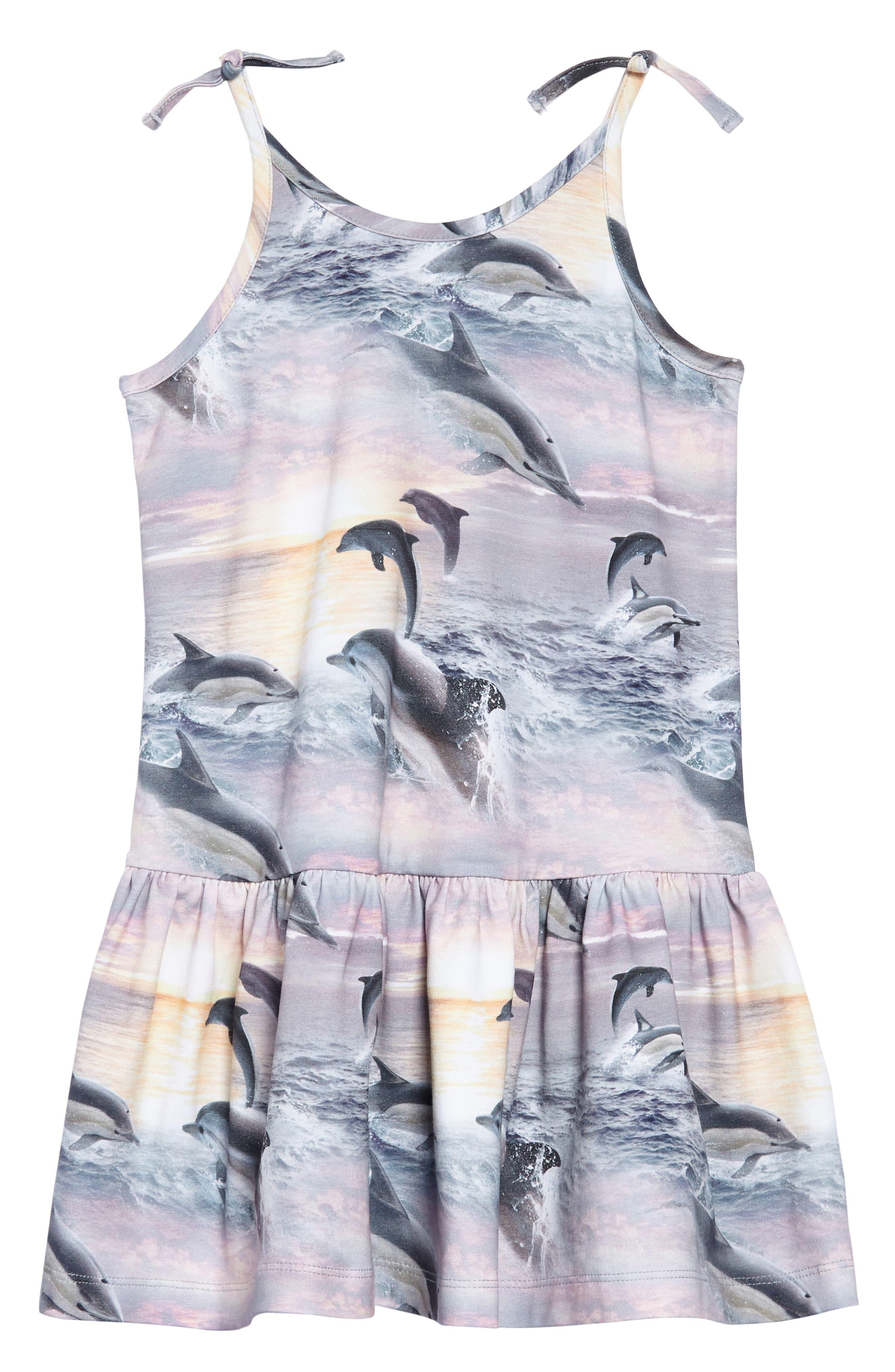 Camilla Dolphin Dress,                         Main,                         color, Dolphin Sunset