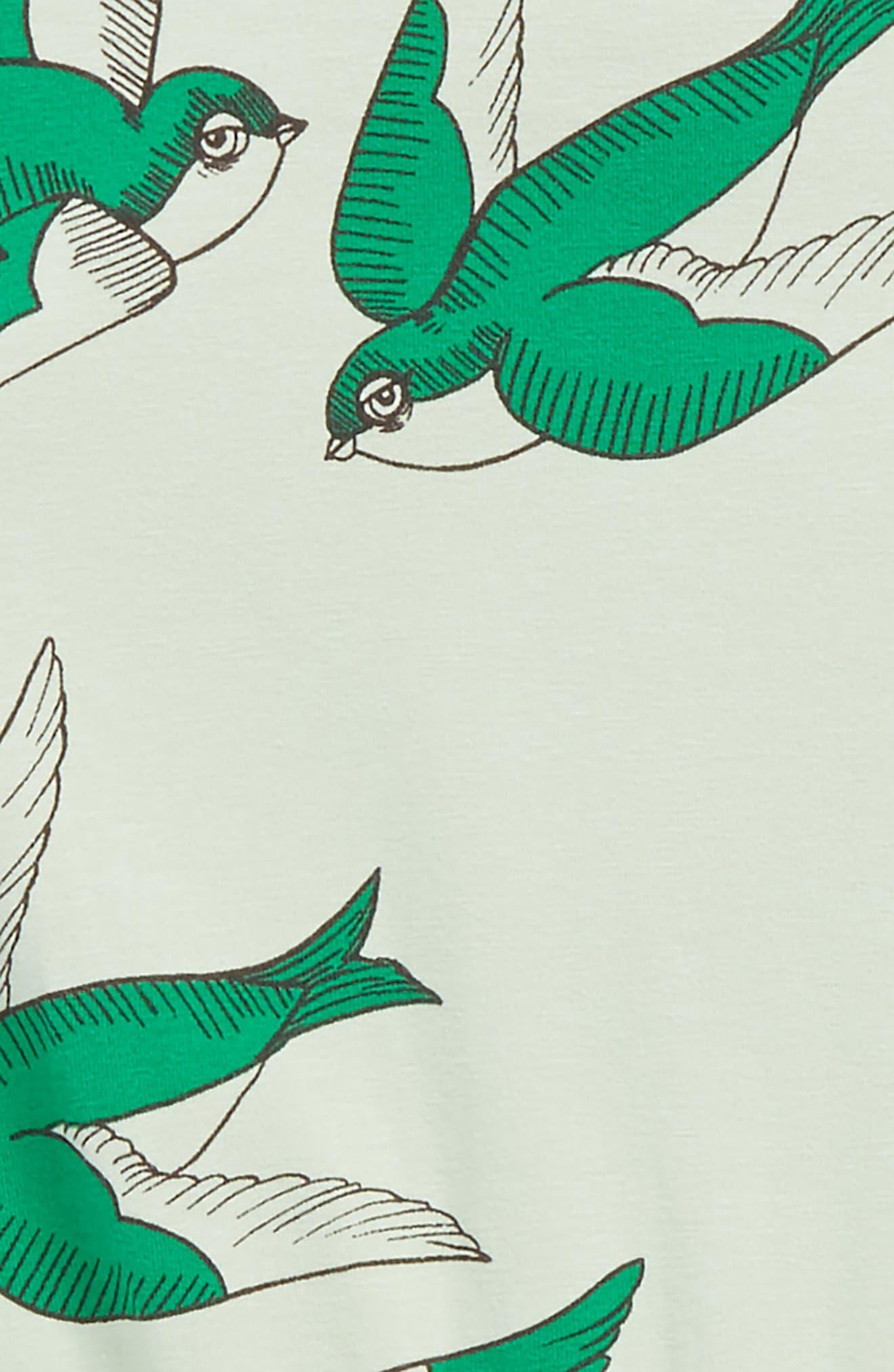 Alternate Image 2  - Mini Rodini Swallows Romper (Toddler Girls & Little Girls)