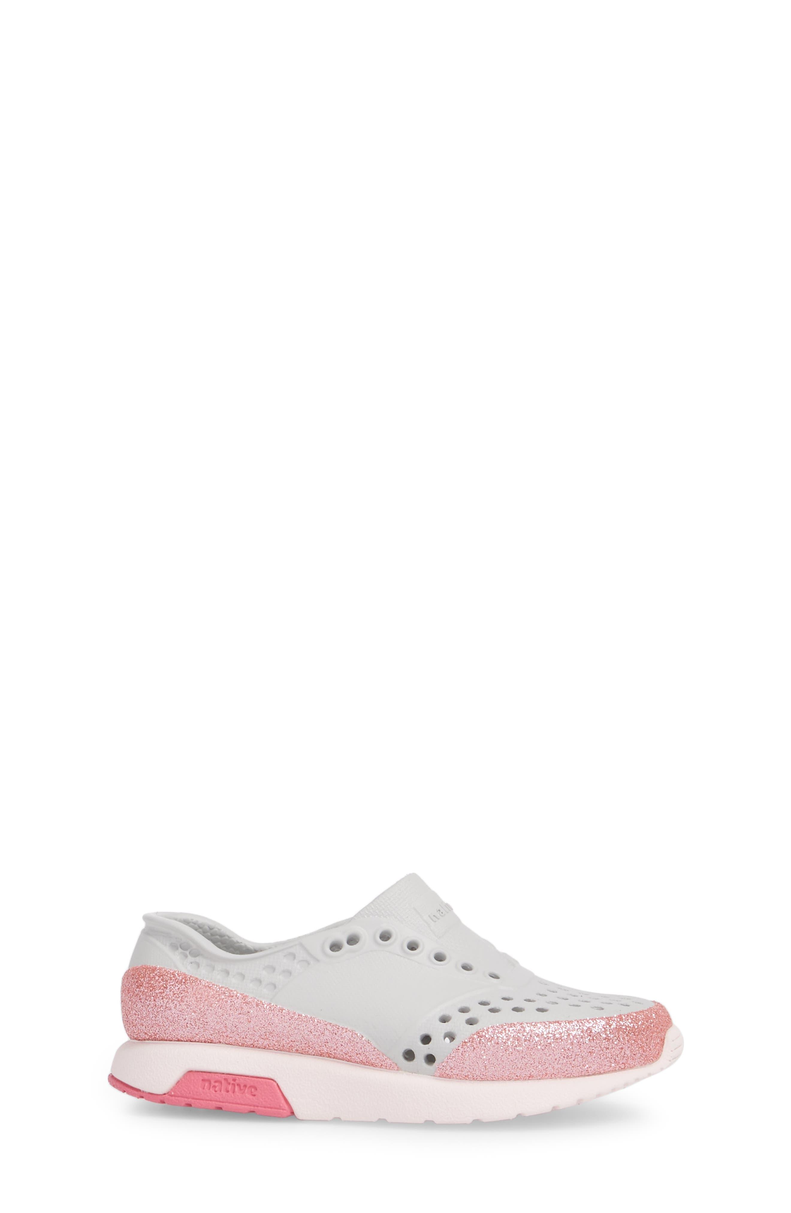 Lennox Glitter Slip-On Sneaker,                             Alternate thumbnail 3, color,                             Mist Grey/ Milk Pink/ Glitter