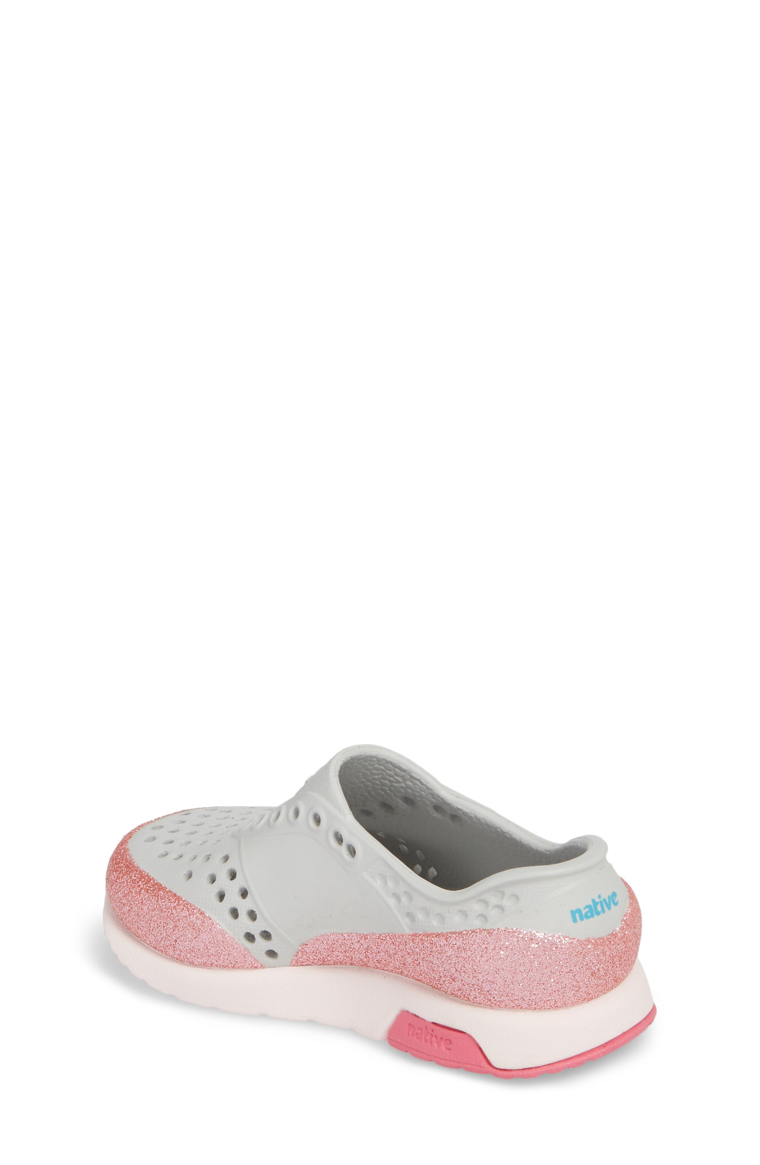 Lennox Glitter Slip-On Sneaker,                             Alternate thumbnail 2, color,                             Mist Grey/ Milk Pink/ Glitter