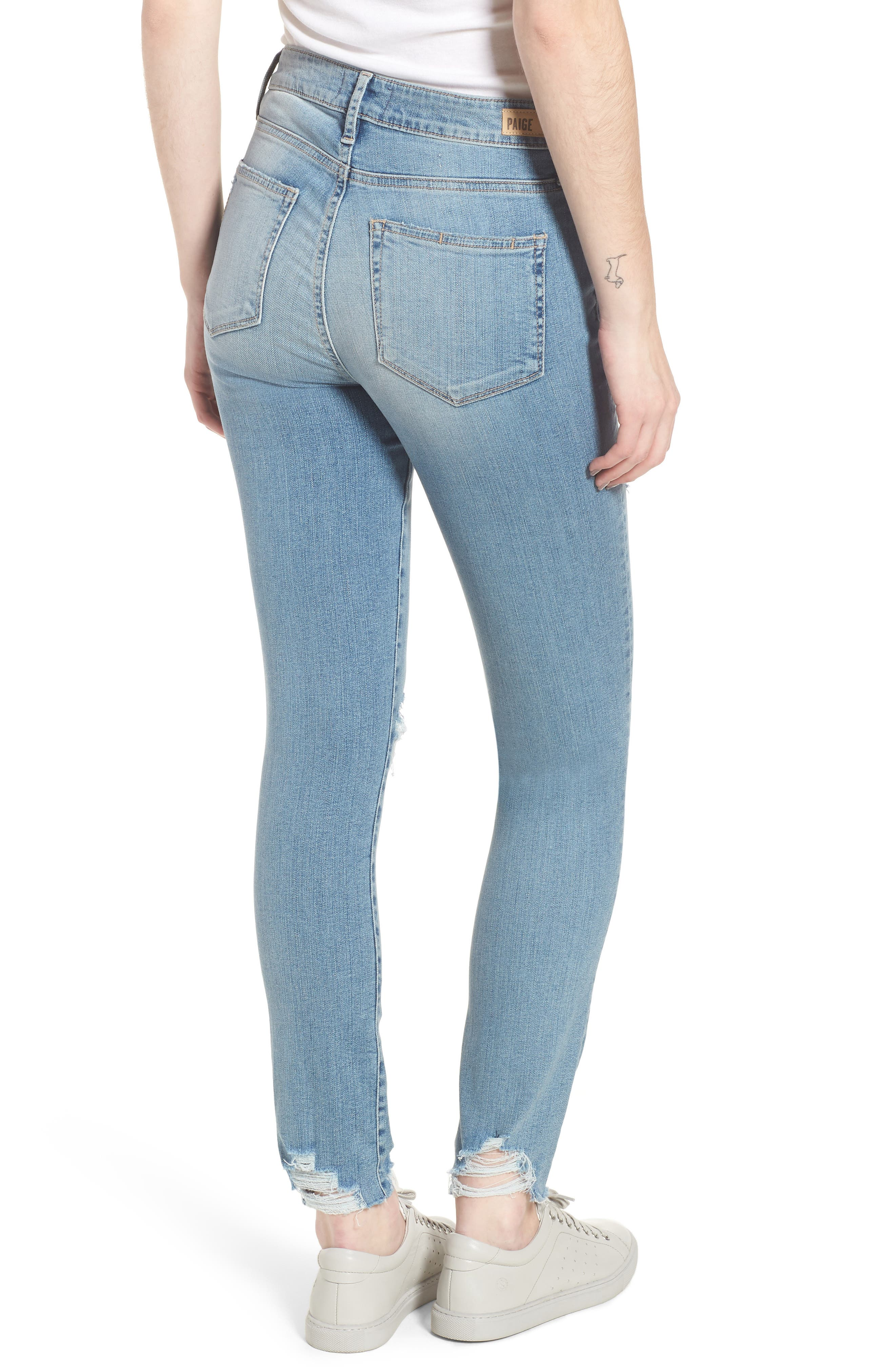 Hoxton High Waist Ankle Skinny Jeans,                             Alternate thumbnail 2, color,                             Janis Destructed
