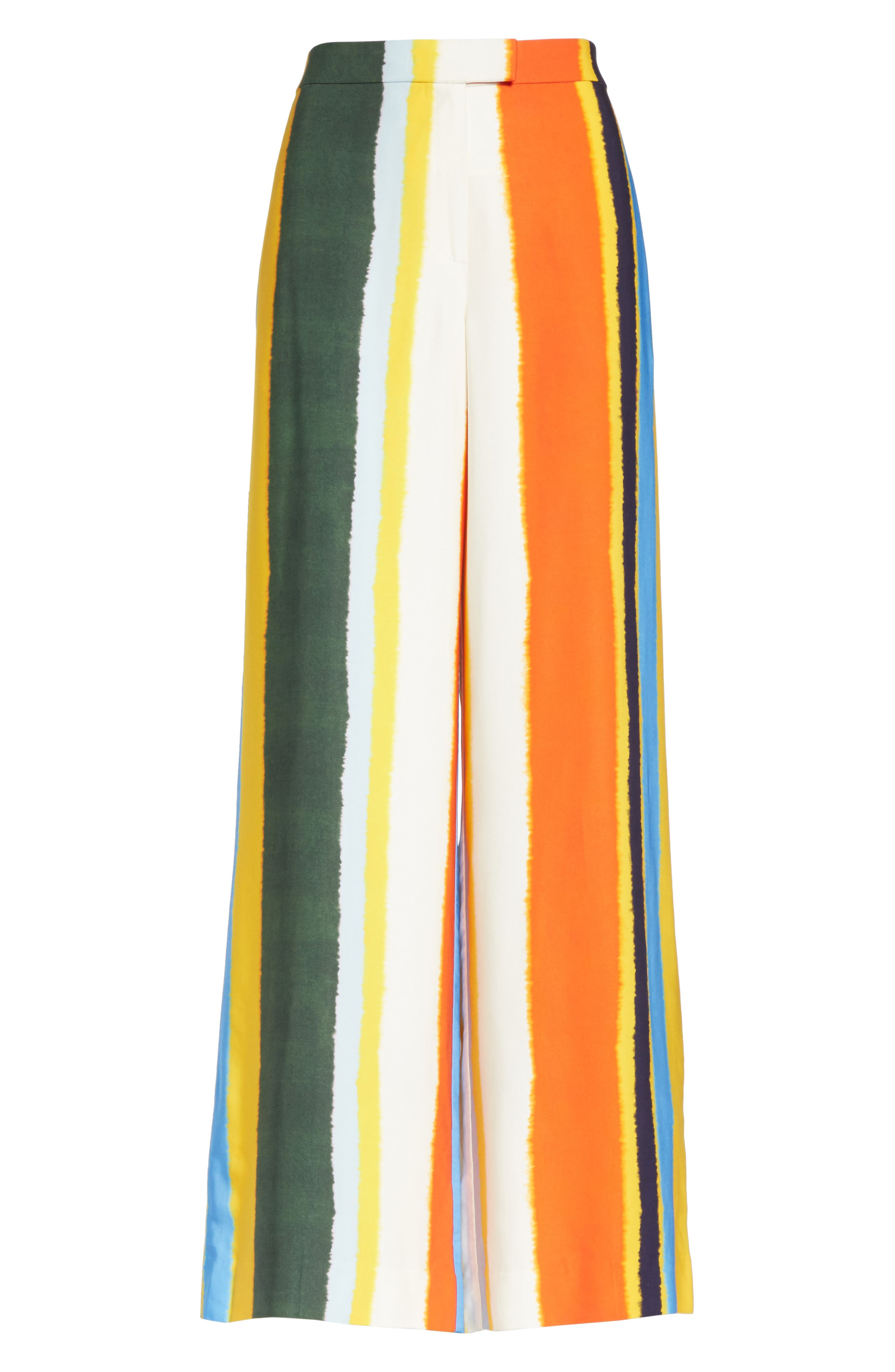 Fiona Stripe Wide Leg Pants,                             Alternate thumbnail 6, color,                             Balloon Stripe