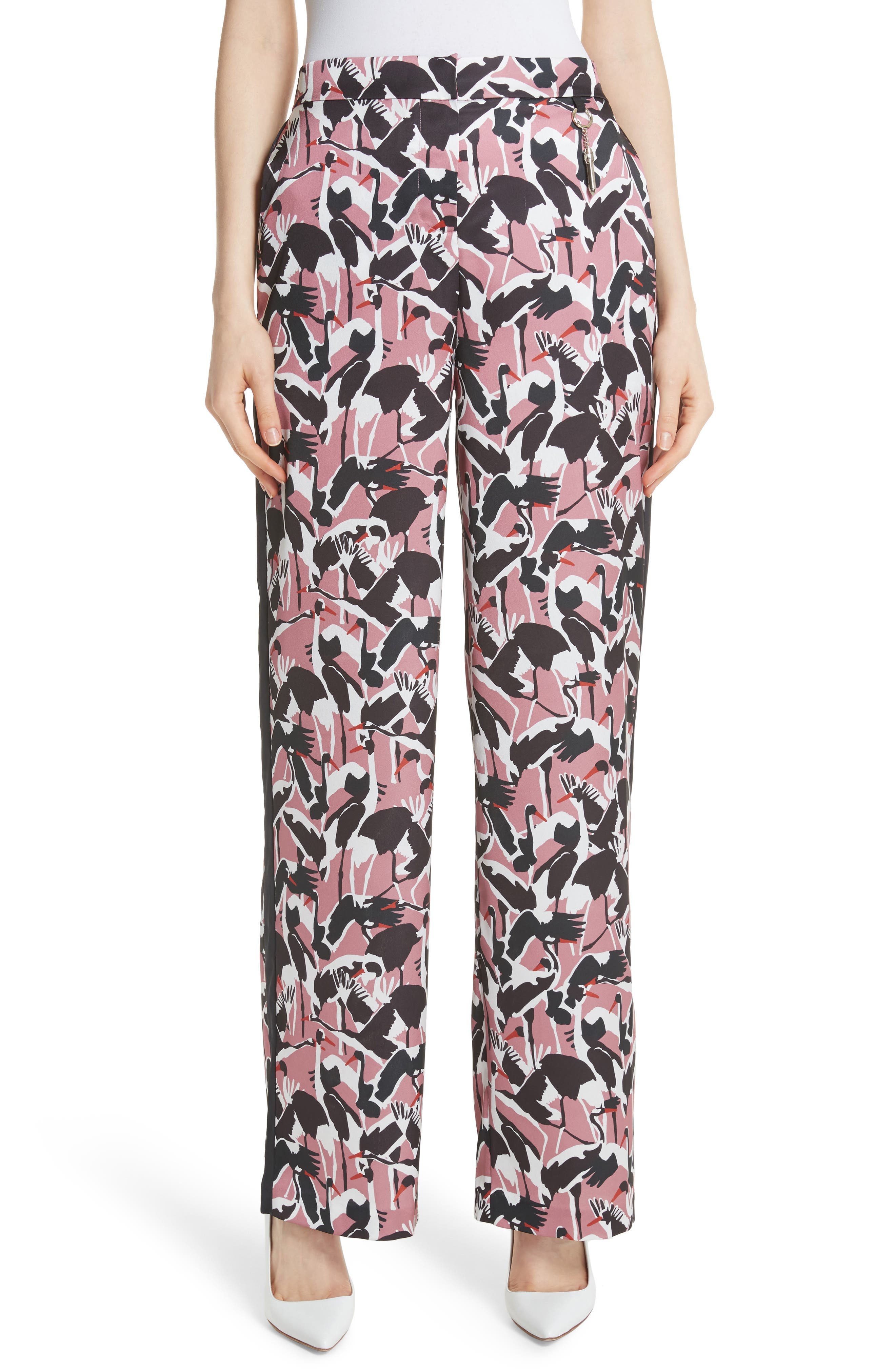 Colour by Numbers Remeel Silk Pants,                             Main thumbnail 1, color,                             Dusky Pink