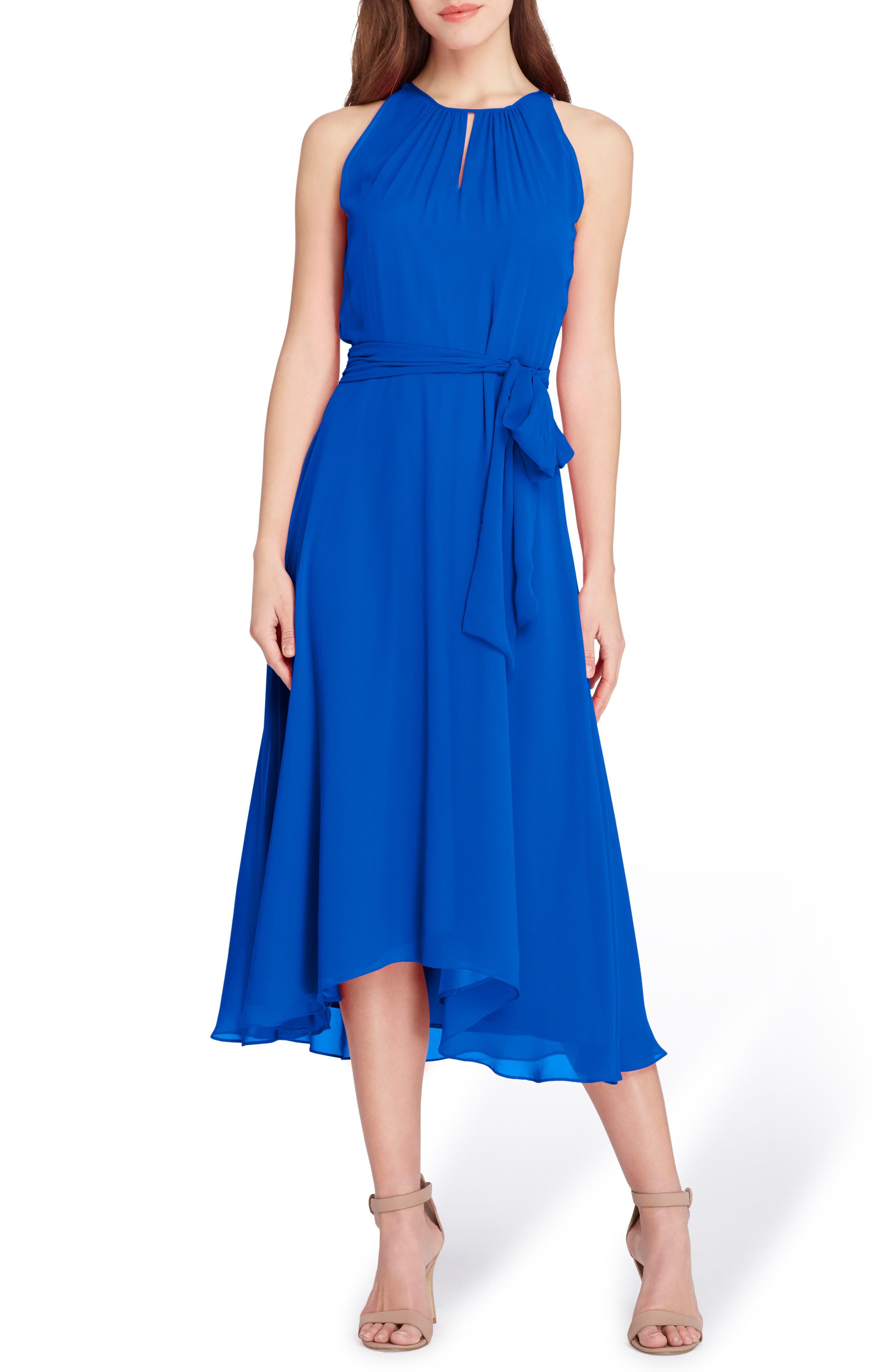 Midi Fit & Flare Dress,                             Main thumbnail 1, color,                             Neon Royal