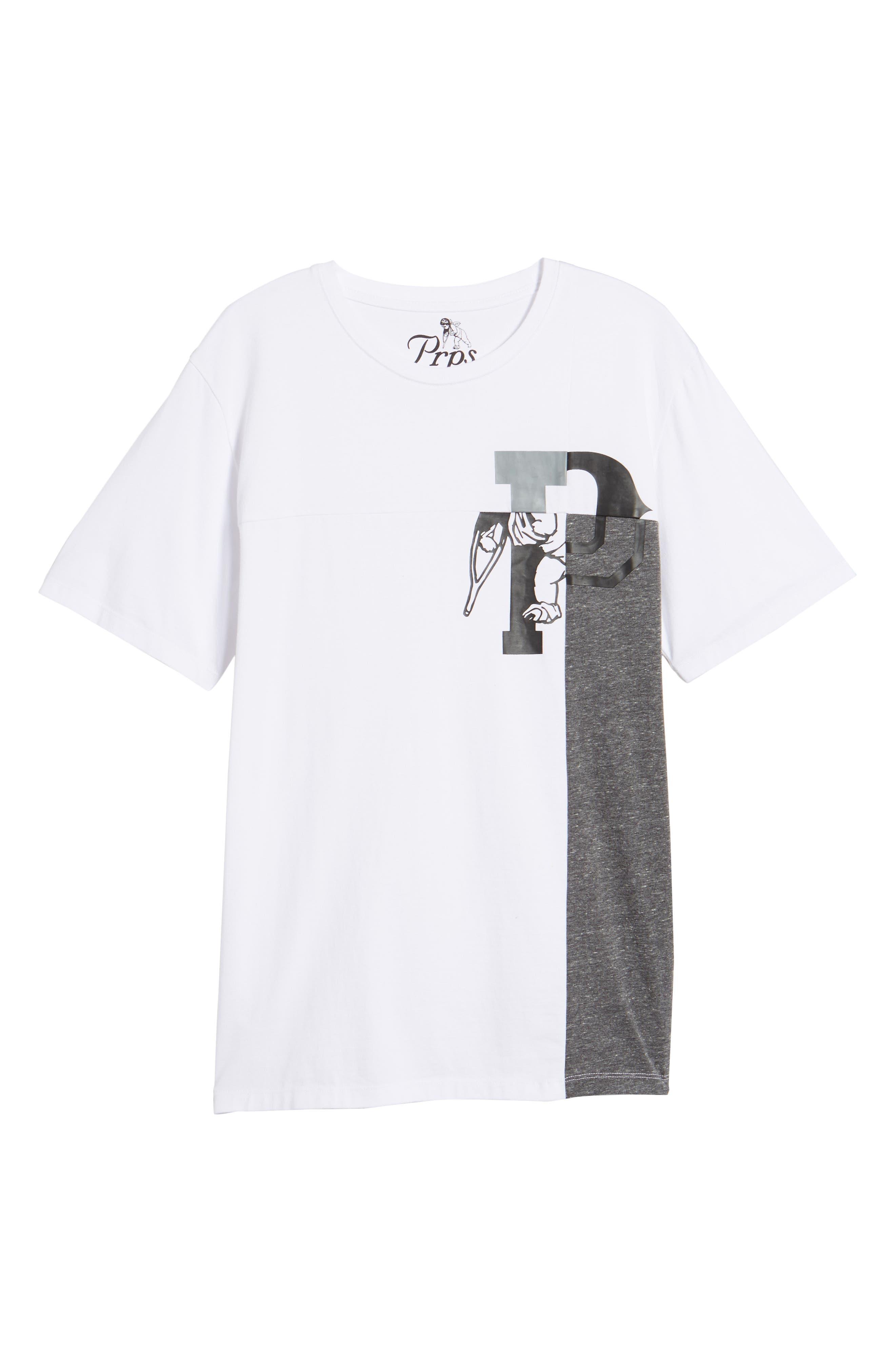 Colorblocked Logo T-Shirt,                             Alternate thumbnail 6, color,                             White