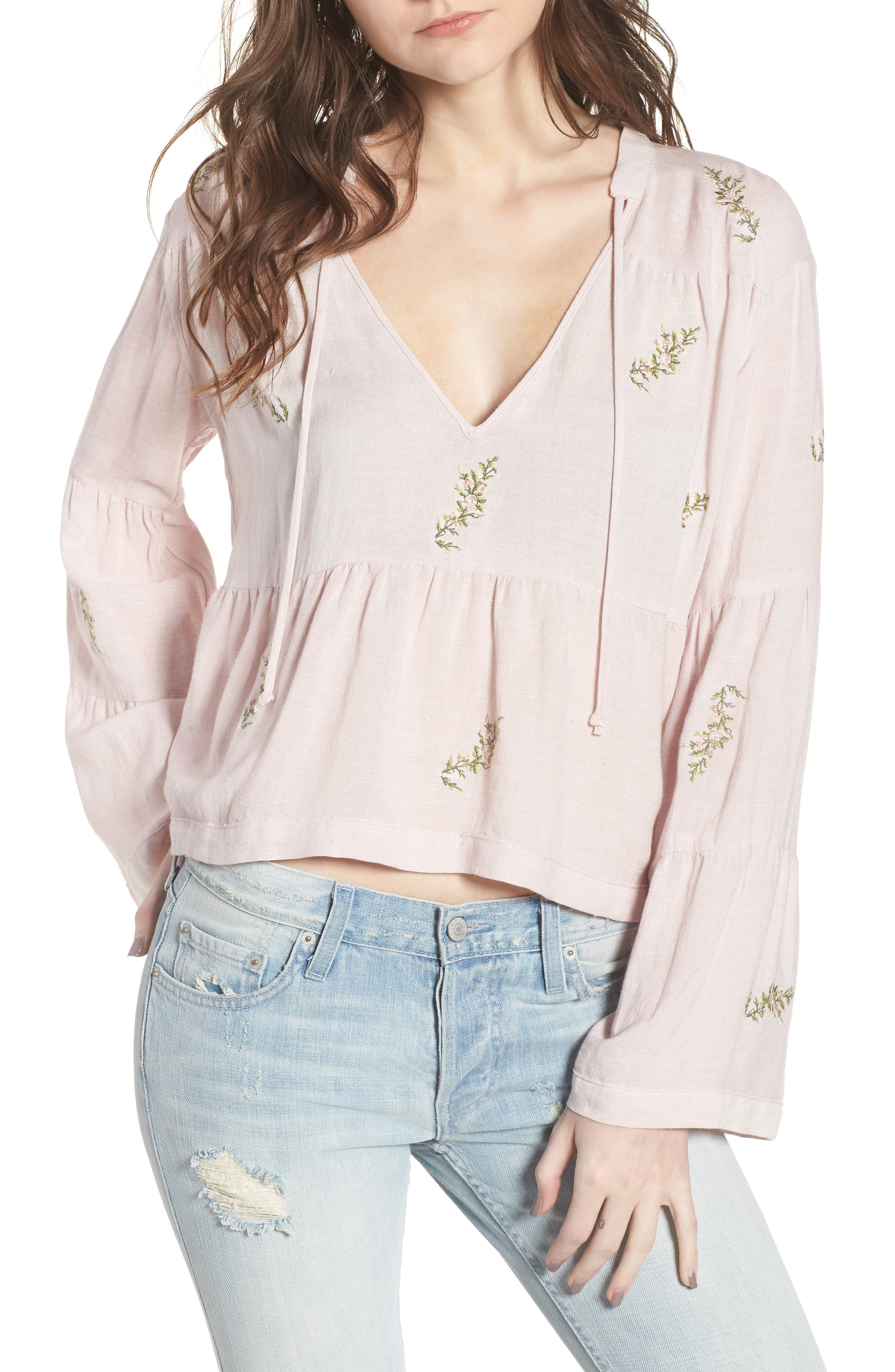 Point Dume Top,                         Main,                         color, Rosa