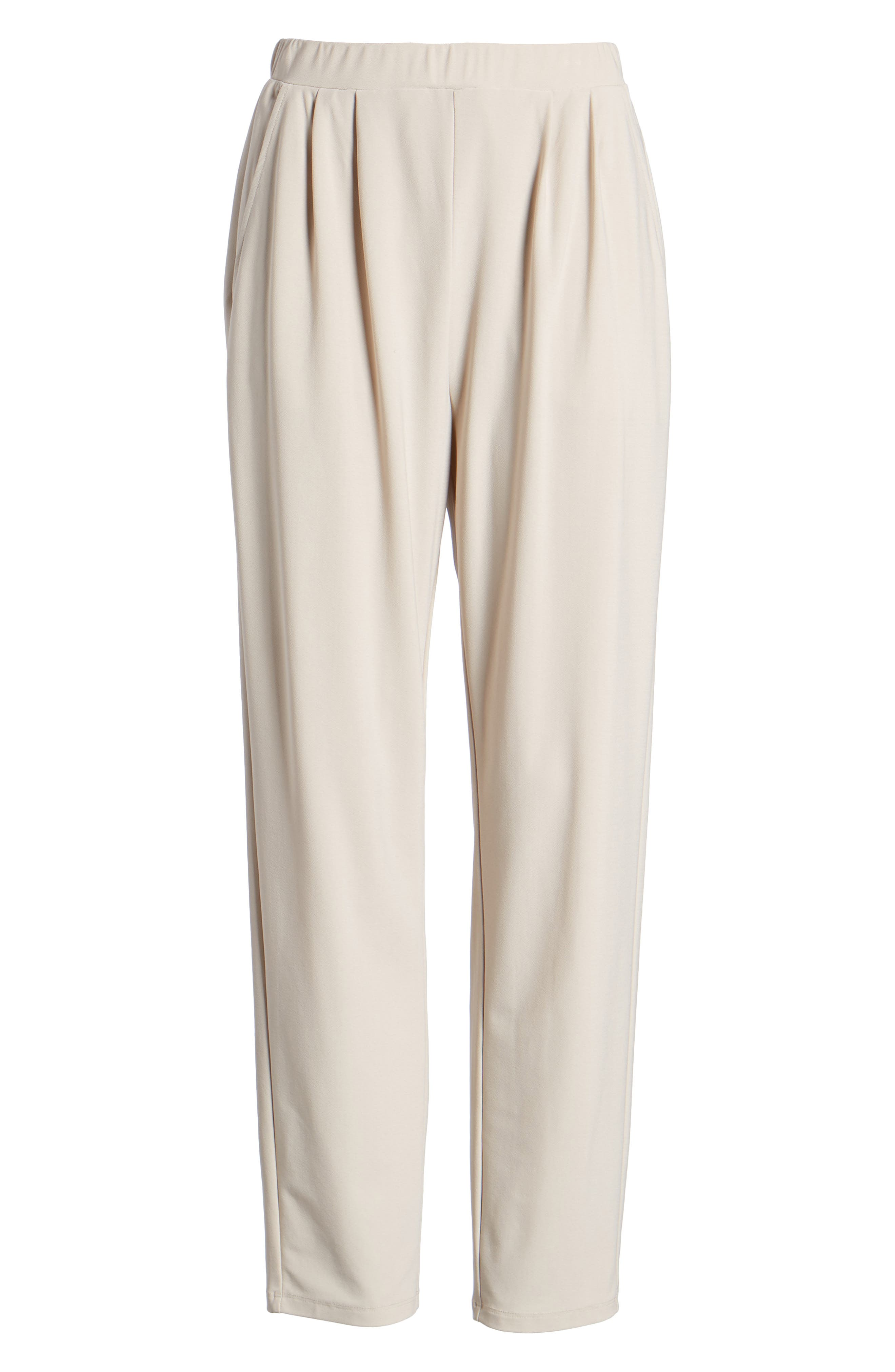 Pleat Front Trousers,                             Alternate thumbnail 7, color,                             Beige Morn