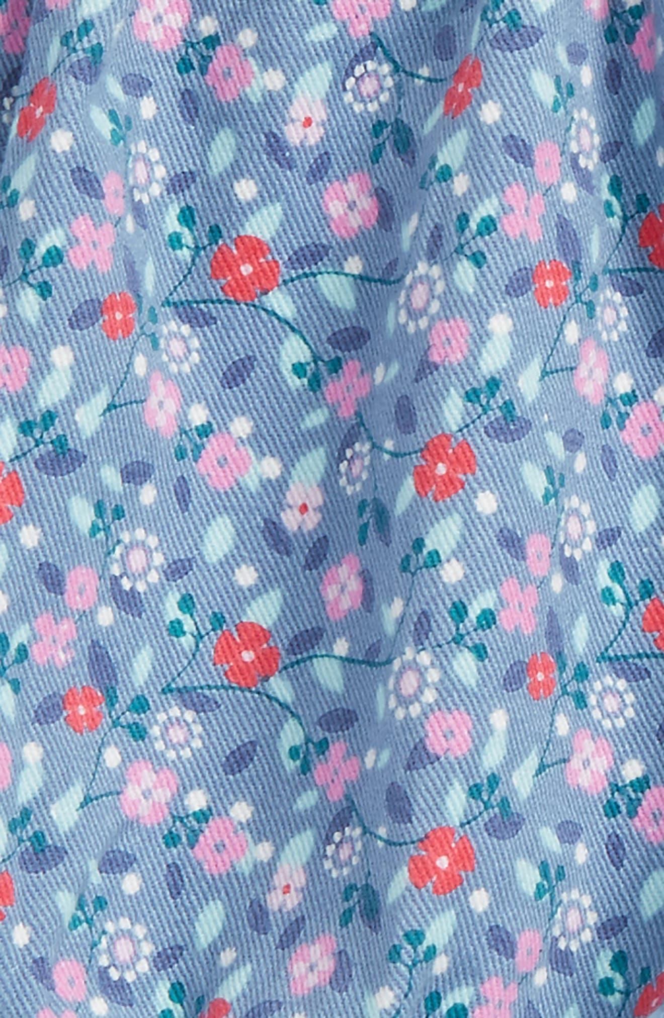 Ditsy Floral Bubble Shorts,                             Alternate thumbnail 2, color,                             Blue Tide Tiny Florals
