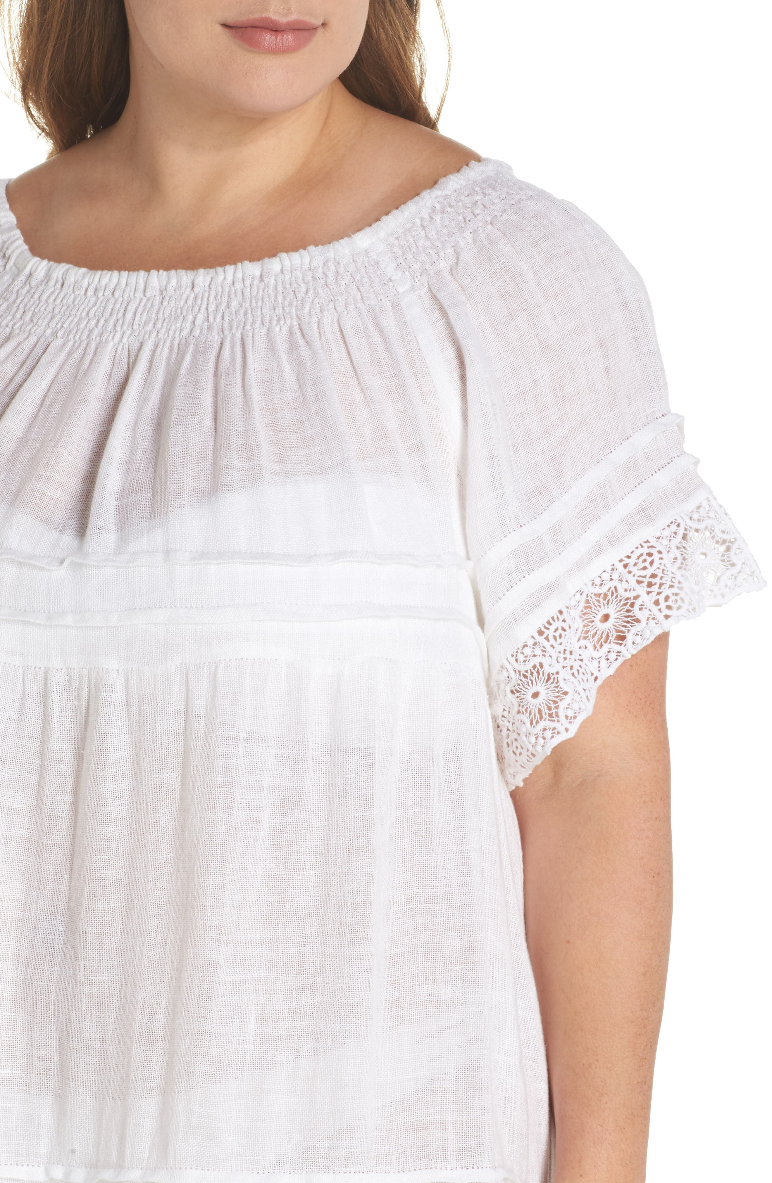 Esmerelda Cover-Up Dress,                             Alternate thumbnail 4, color,                             White