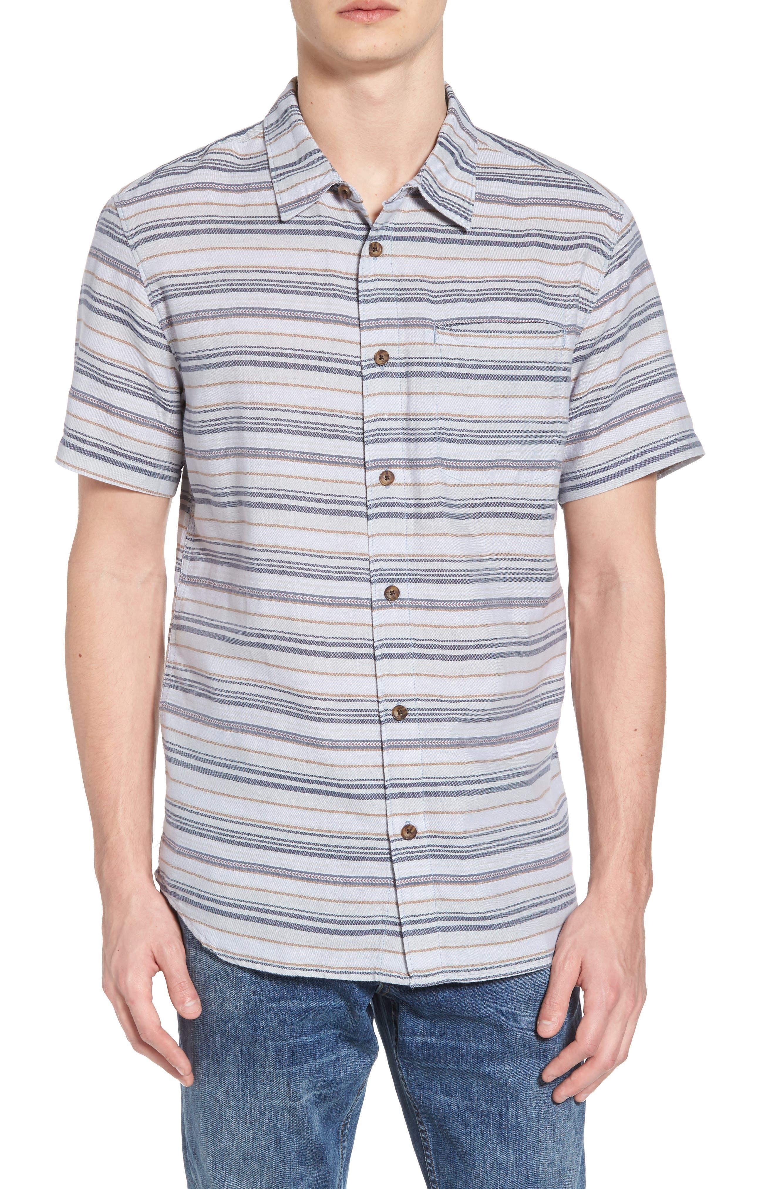 Currington Short Sleeve Shirt,                         Main,                         color, Light Blue