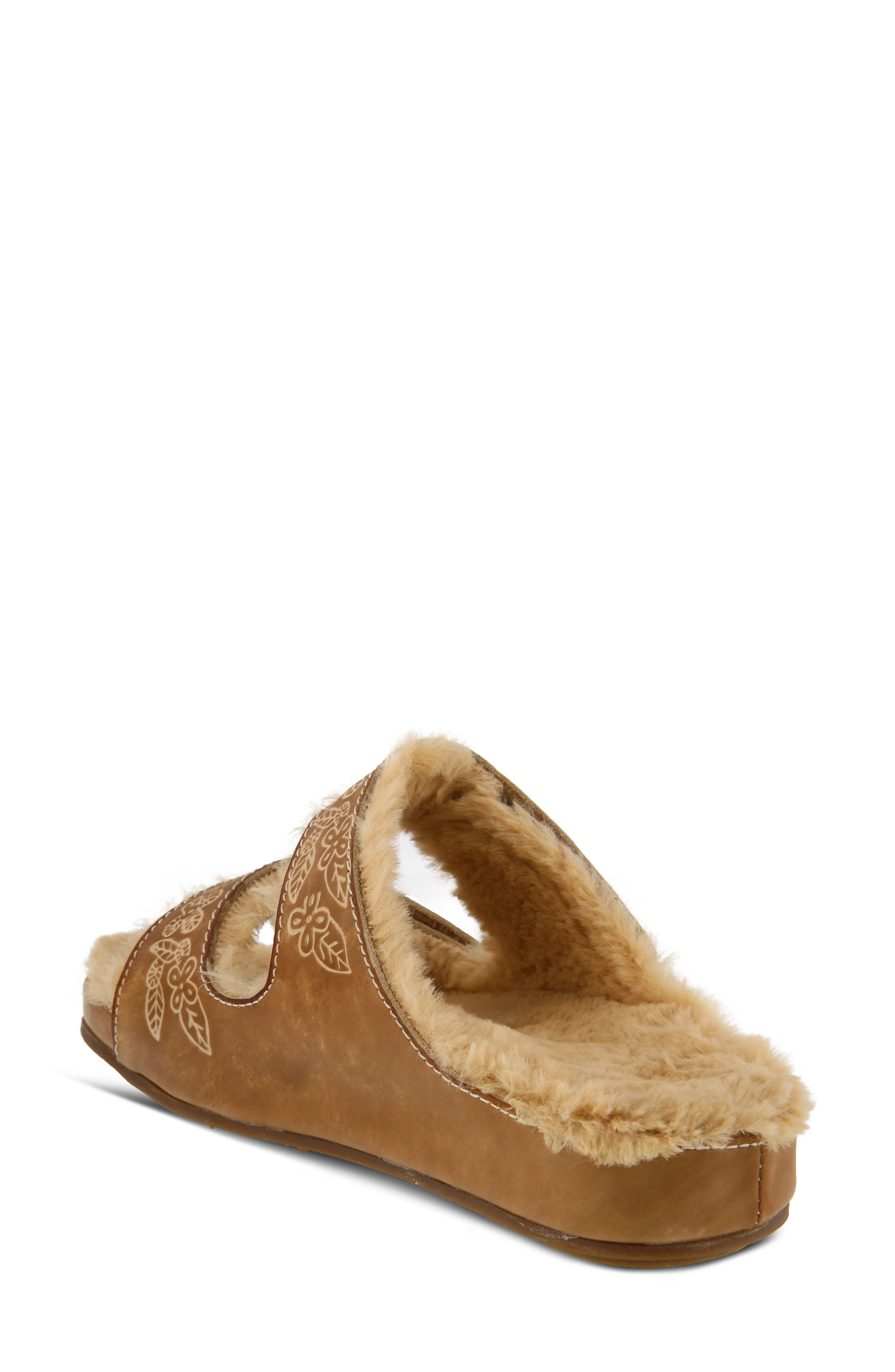 L'Artiste Furrie Sandal,                             Alternate thumbnail 2, color,                             Beige Leather
