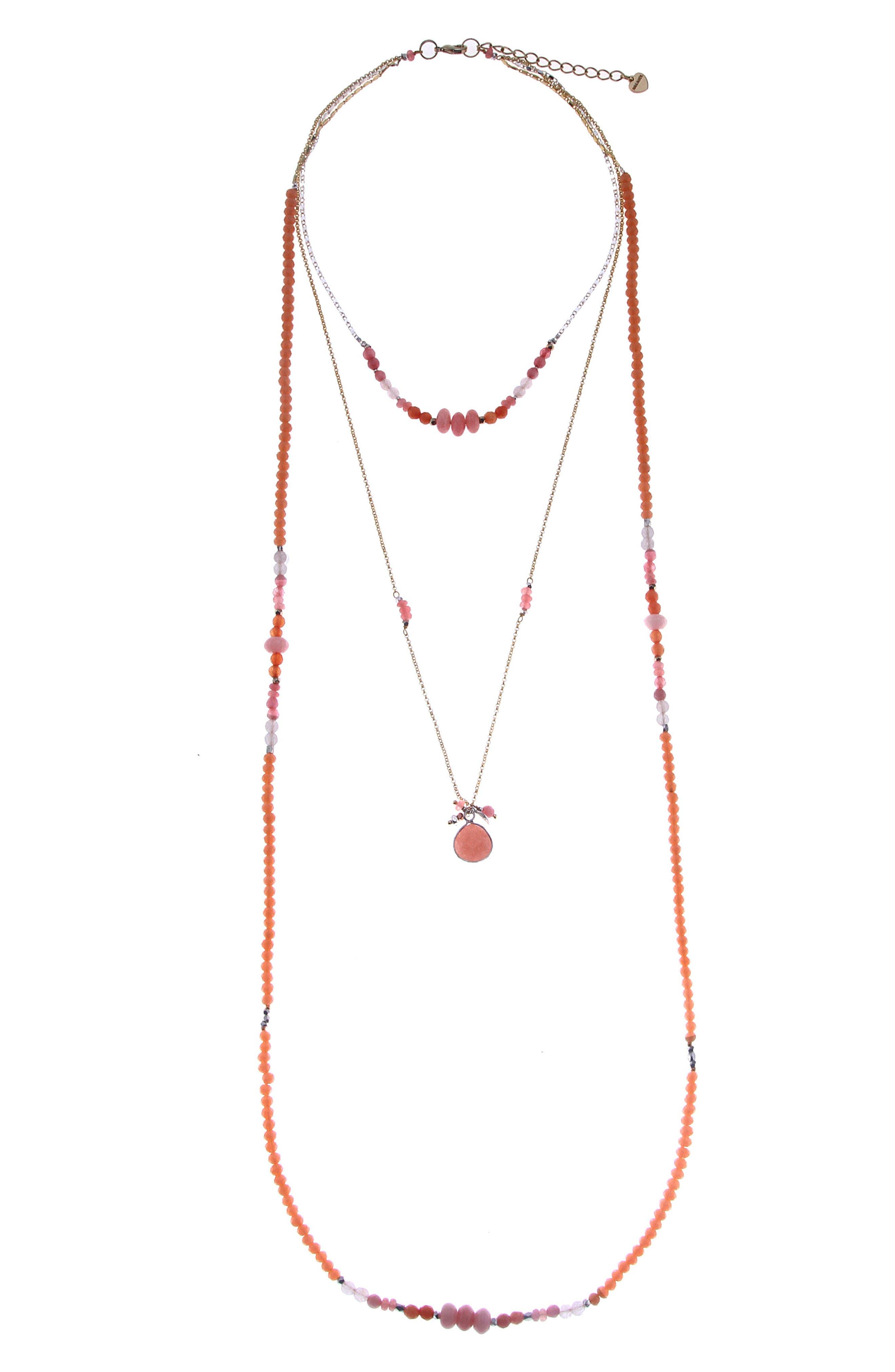 Main Image - Nakamol Design Layered Crystal & Drusy Necklace