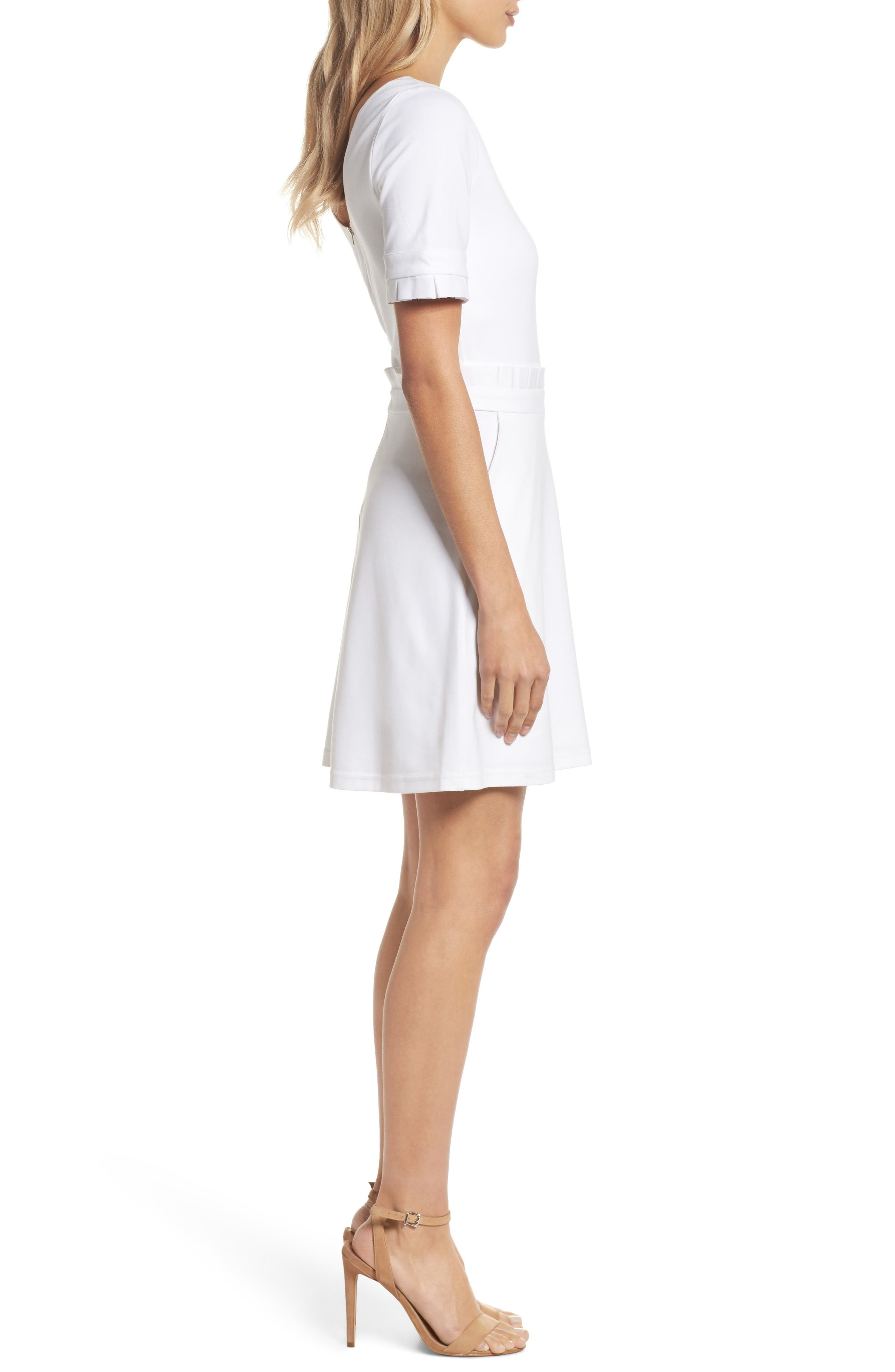 Teenage Love Minidress,                             Alternate thumbnail 3, color,                             White