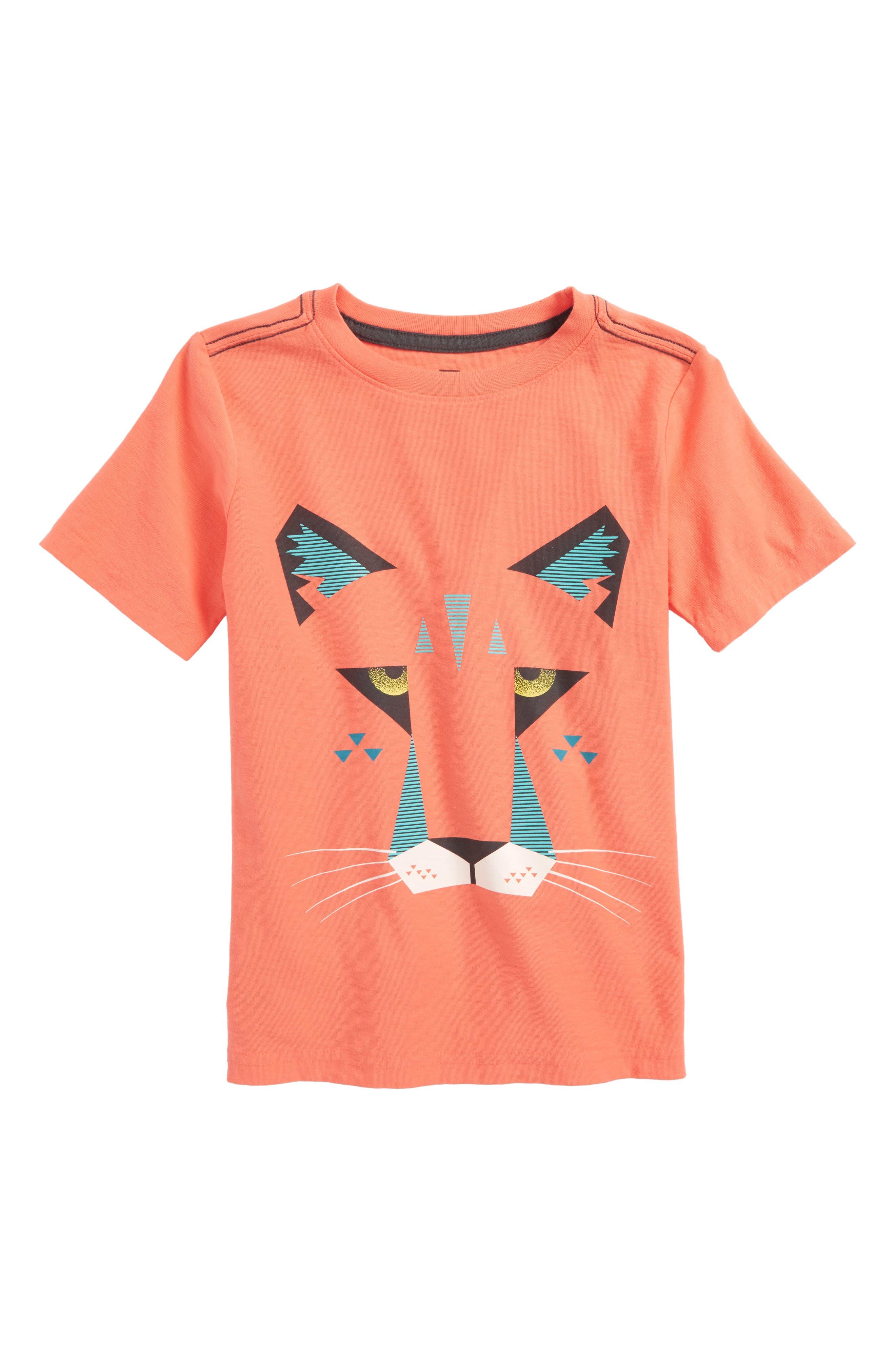 Florida Panther Graphic T-Shirt,                         Main,                         color, Citrus