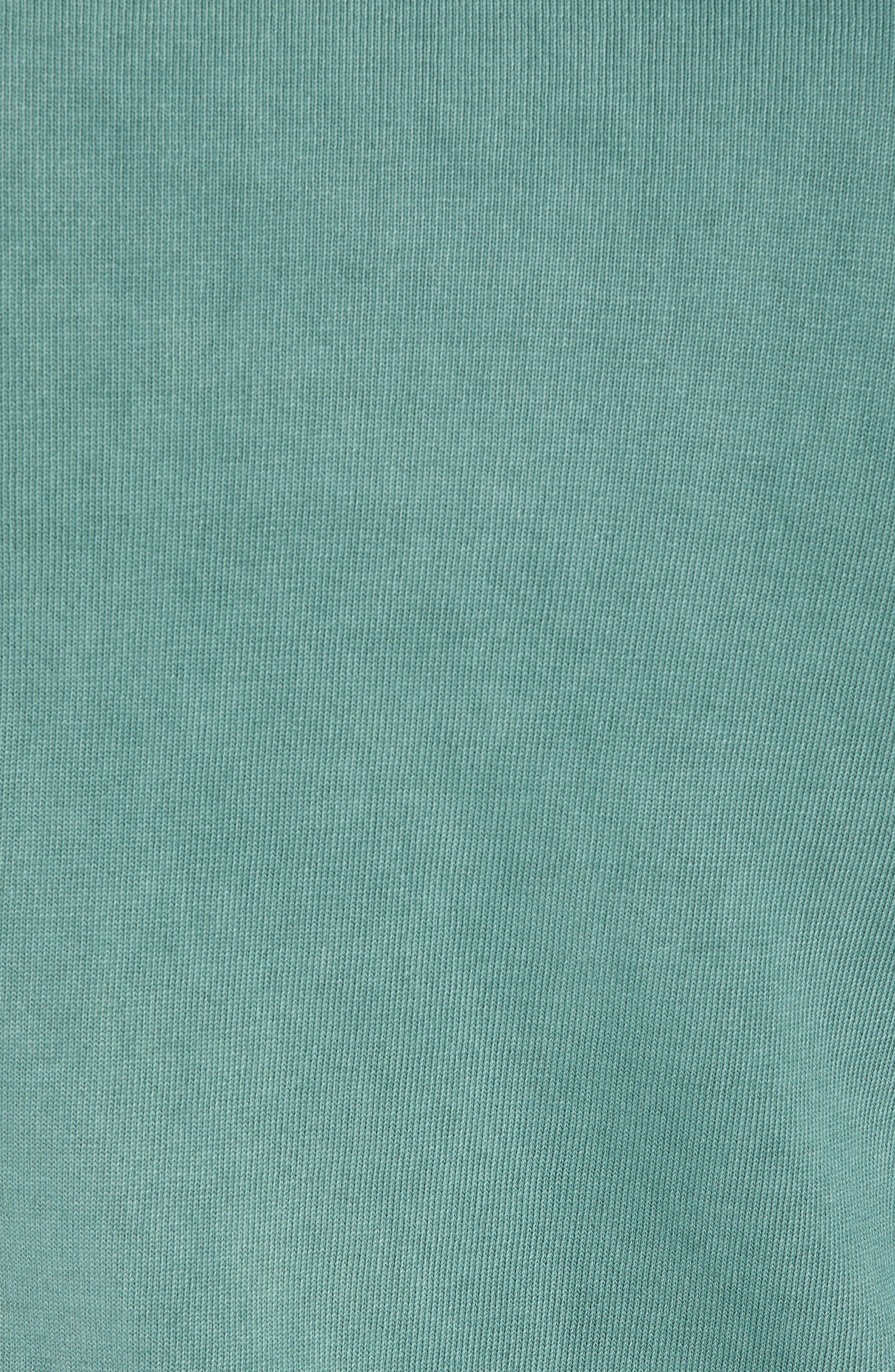 Stonewash Cotton Sweatshirt,                             Alternate thumbnail 5, color,                             Washed Sage