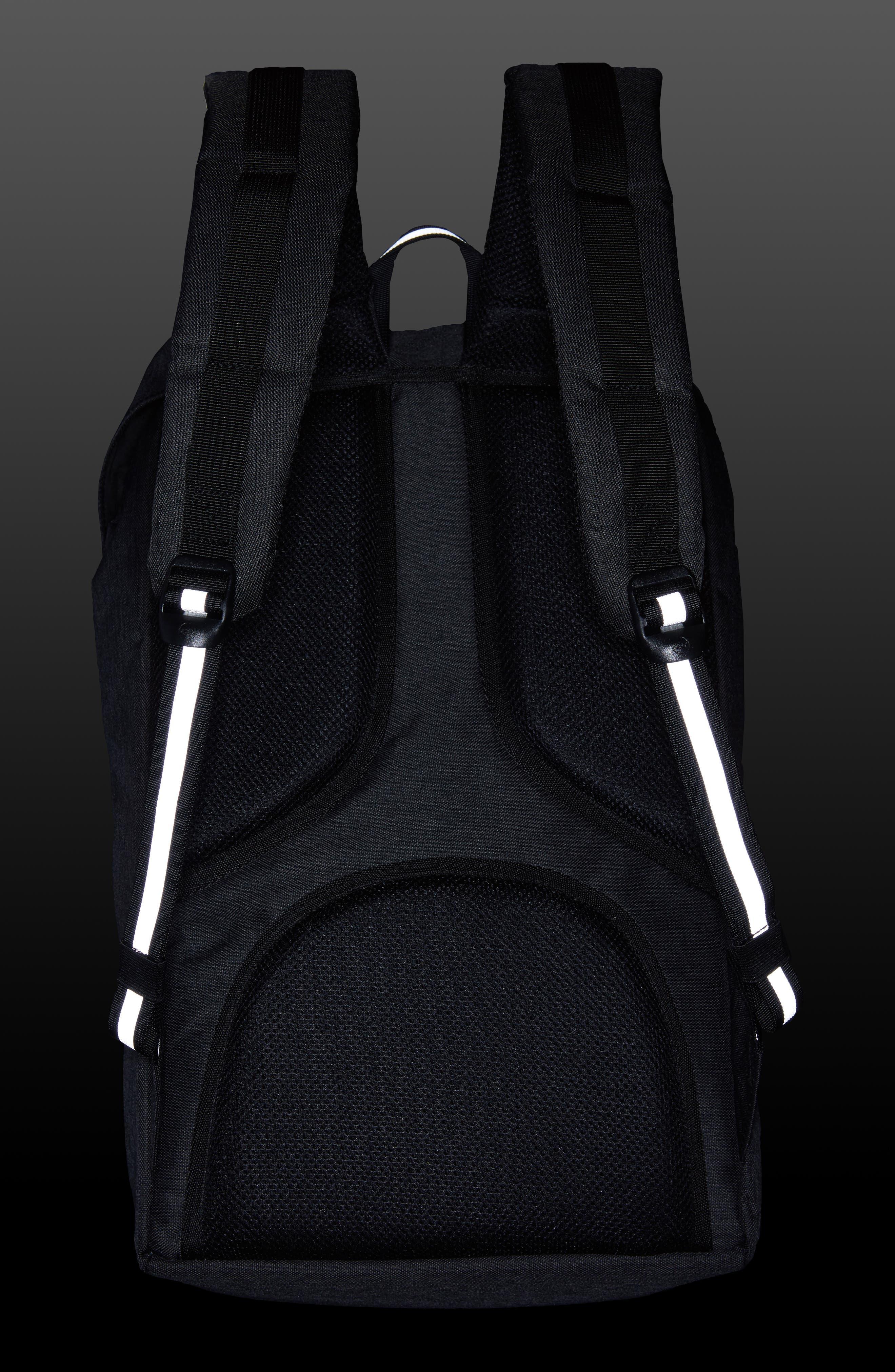 Little America - Reflective Backpack,                             Alternate thumbnail 2, color,                             Black Crosshatch/ Reflective