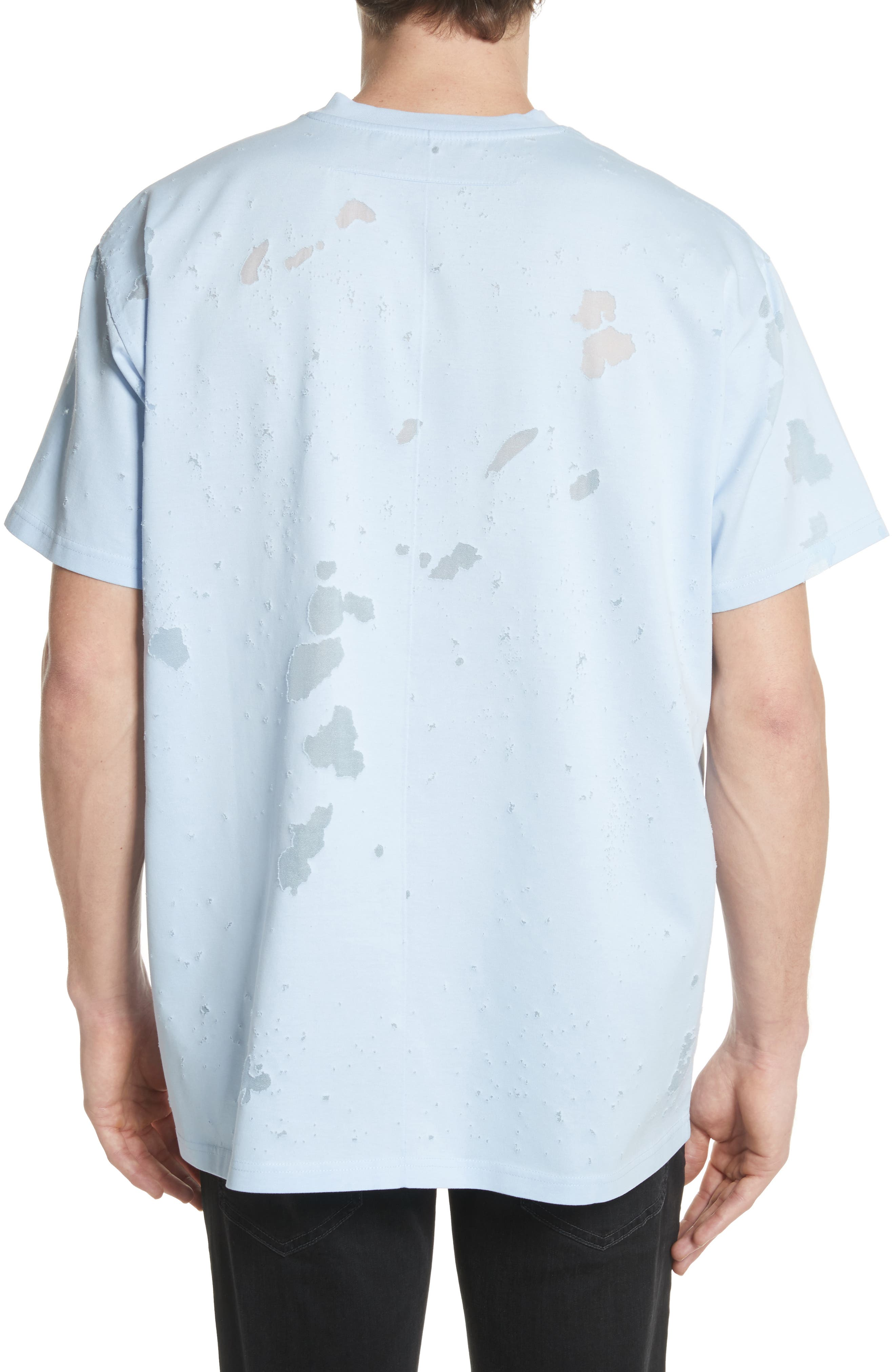 Destroyed Logo Graphic T-Shirt,                             Alternate thumbnail 2, color,                             Blue