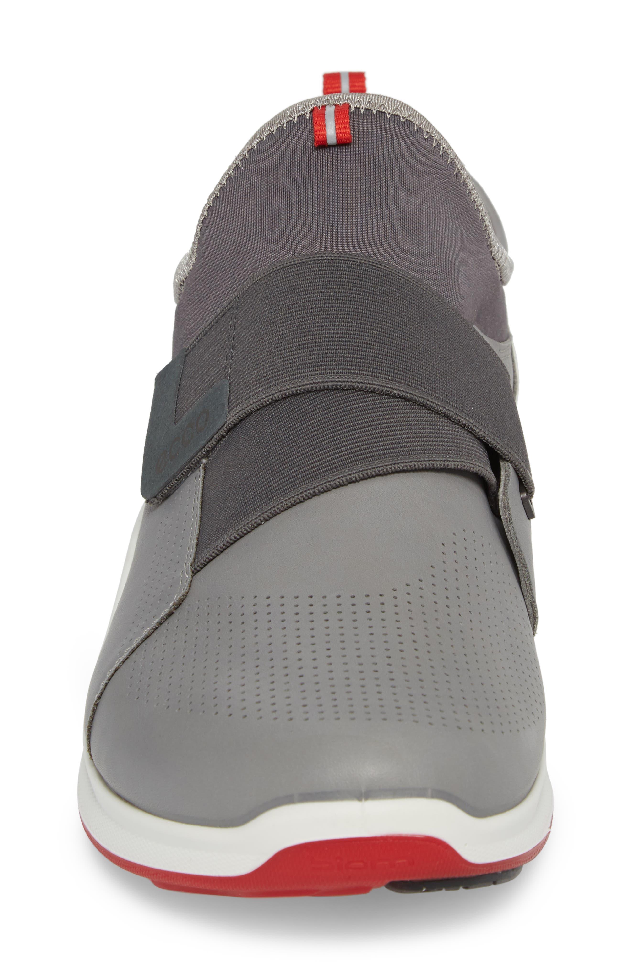 BIOM Fjuel Band Sneaker,                             Alternate thumbnail 4, color,                             Dark Shadow/ Titanium Leather