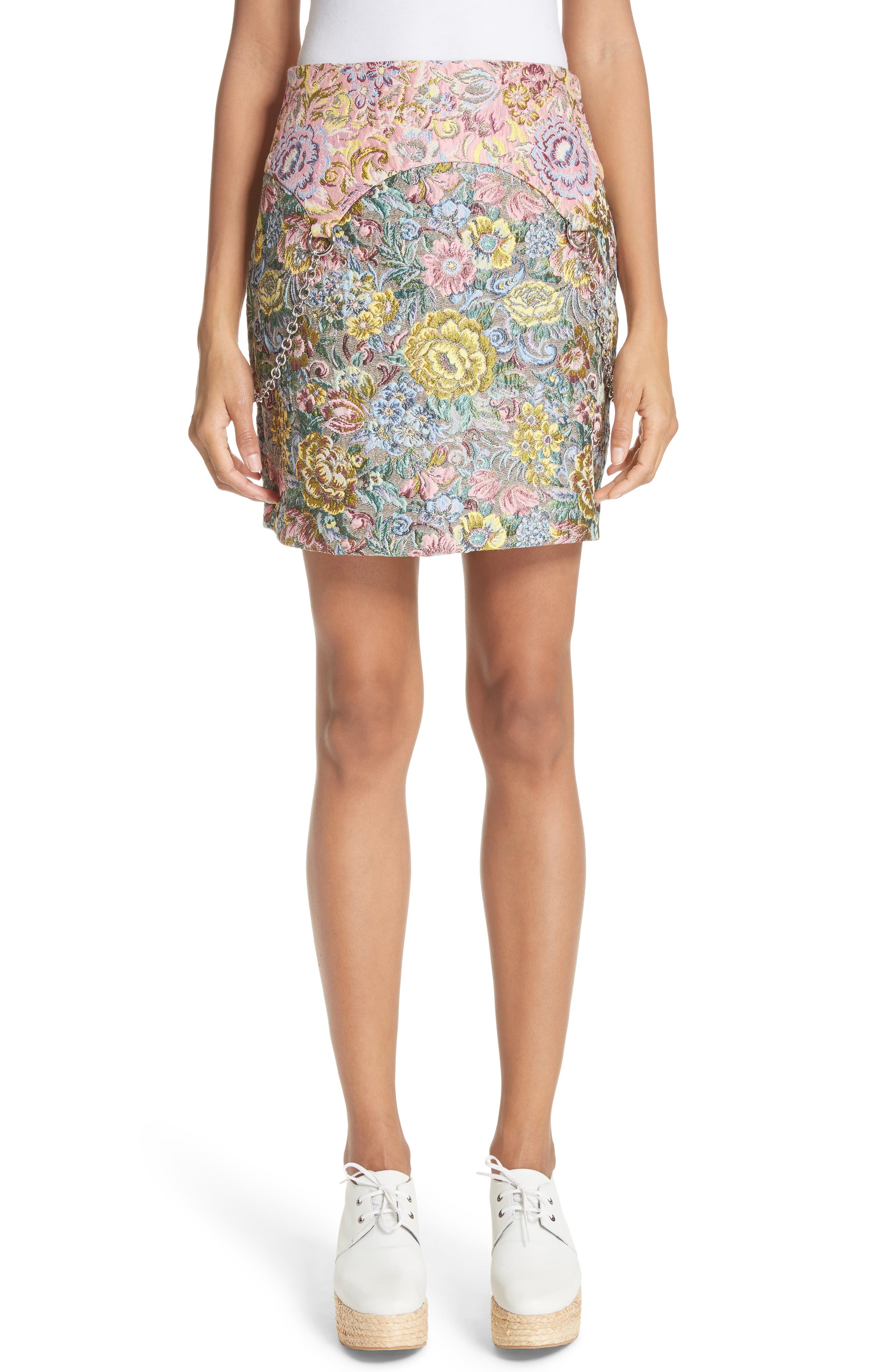 Chatham Brocade Miniskirt,                             Main thumbnail 1, color,                             Couch