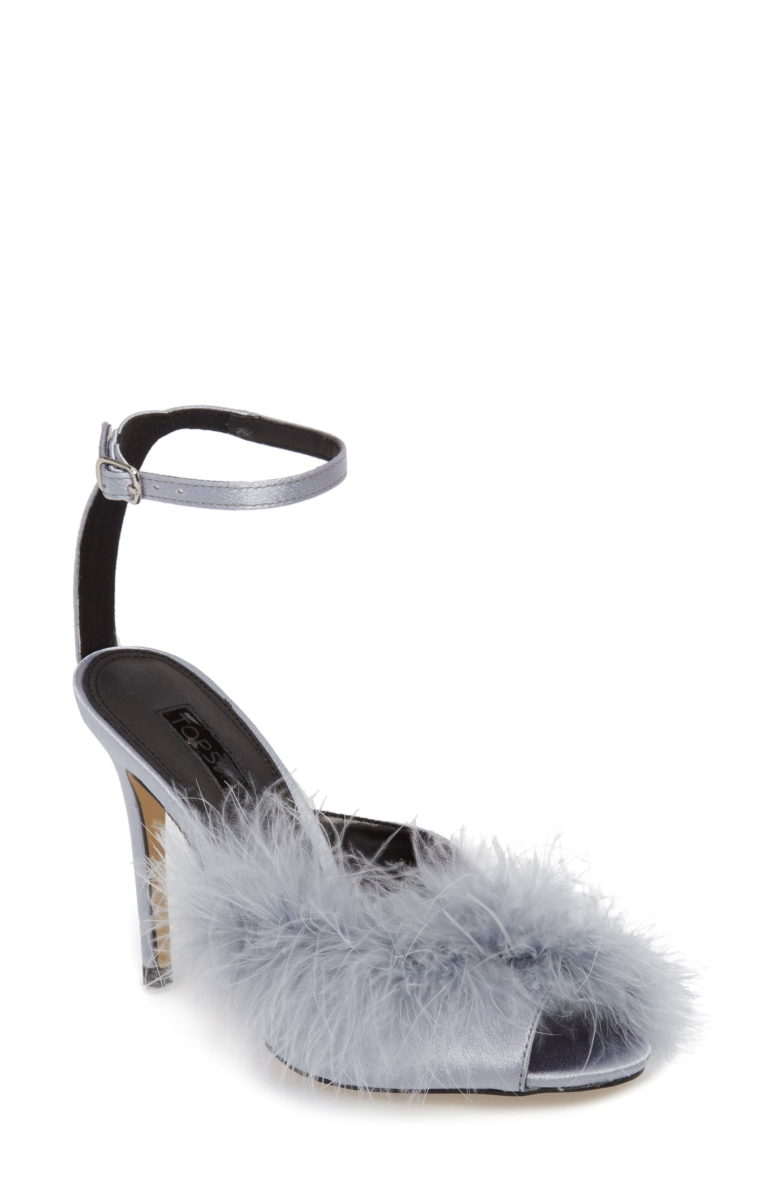 Roar Feather Sandal,                         Main,                         color, Grey