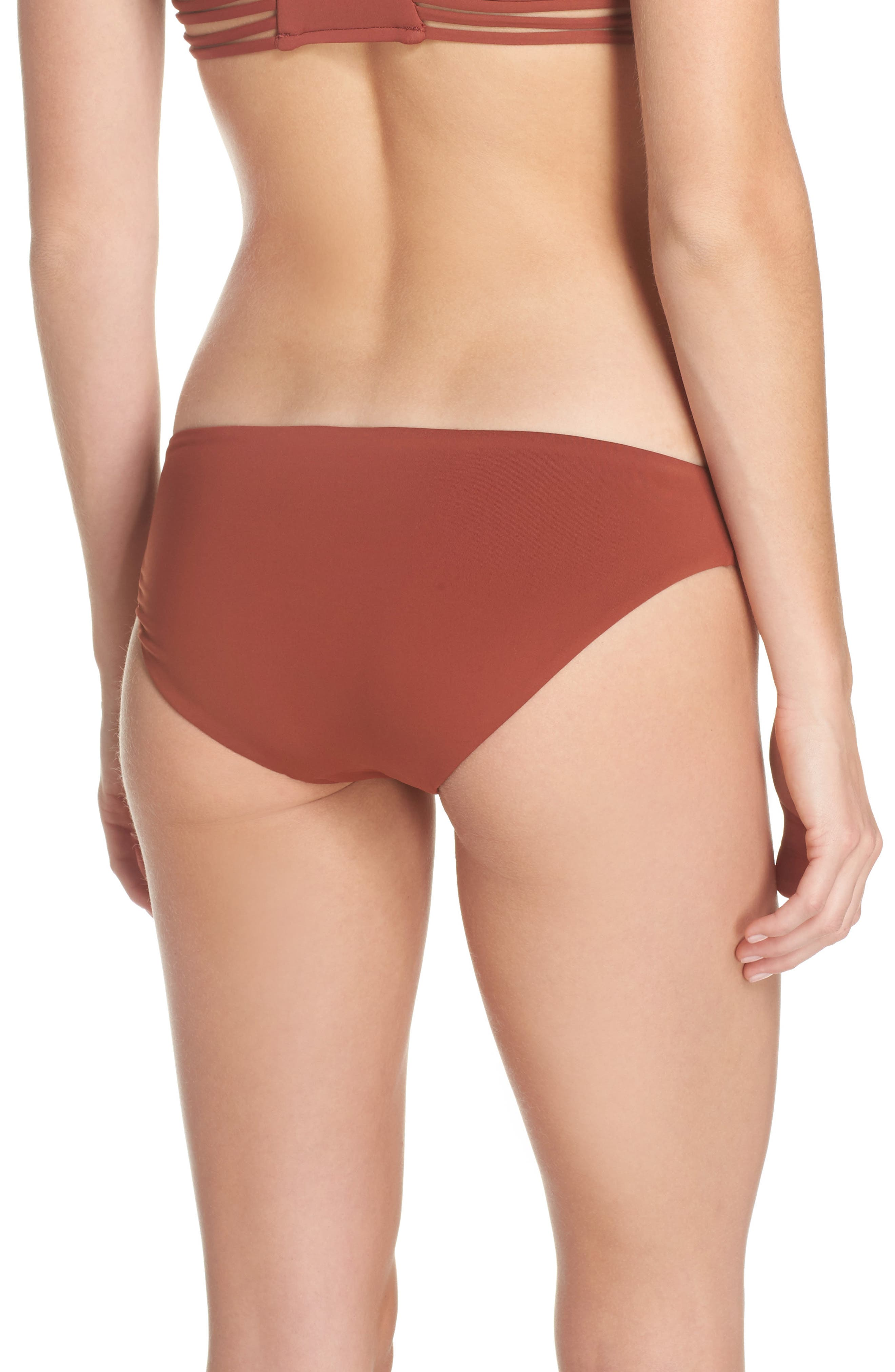 Active Bikini Bottoms,                             Alternate thumbnail 2, color,                             Burnt Amber