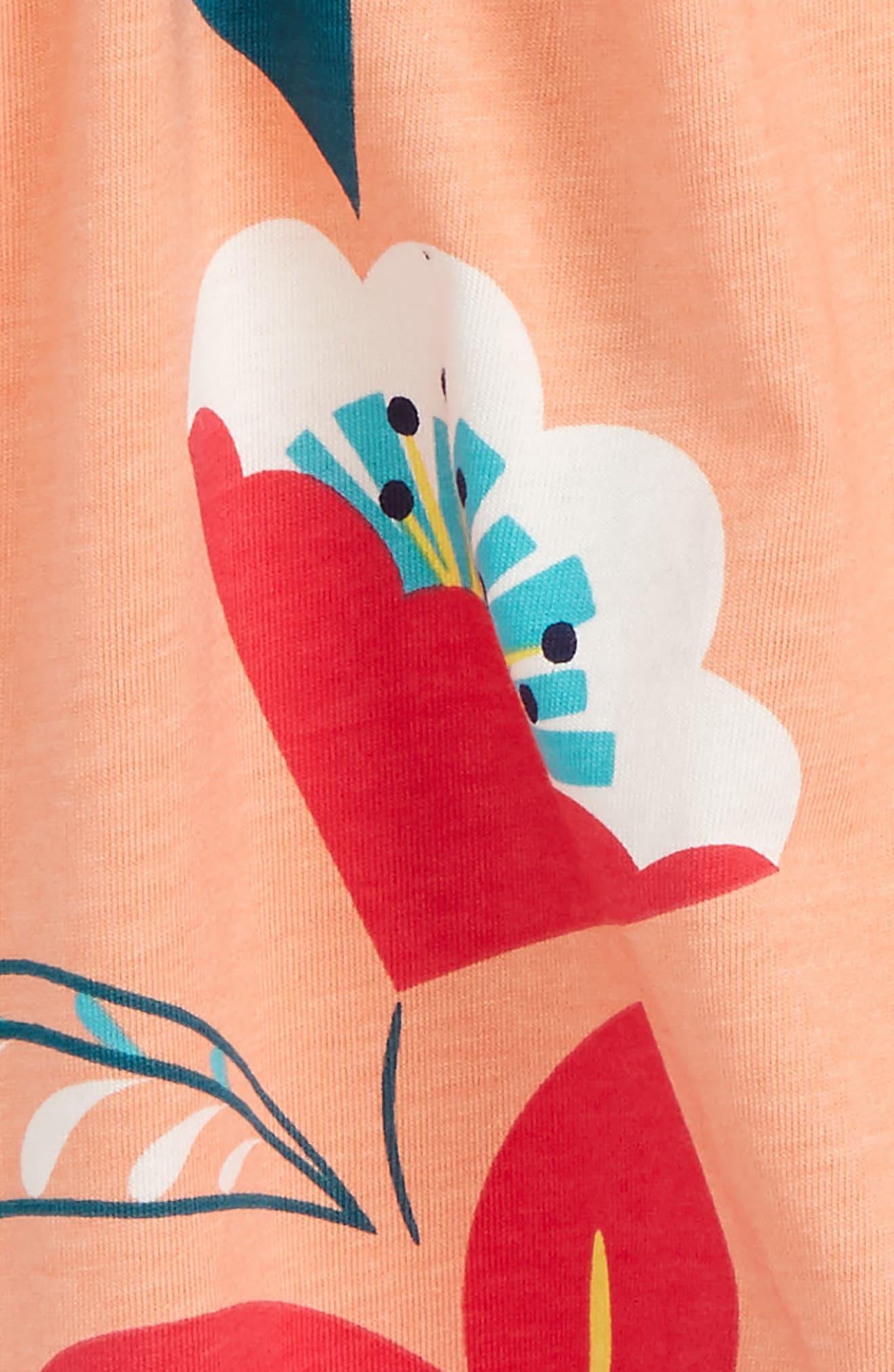 Wrap Neck Romper,                             Alternate thumbnail 2, color,                             Vibrant Blossoms