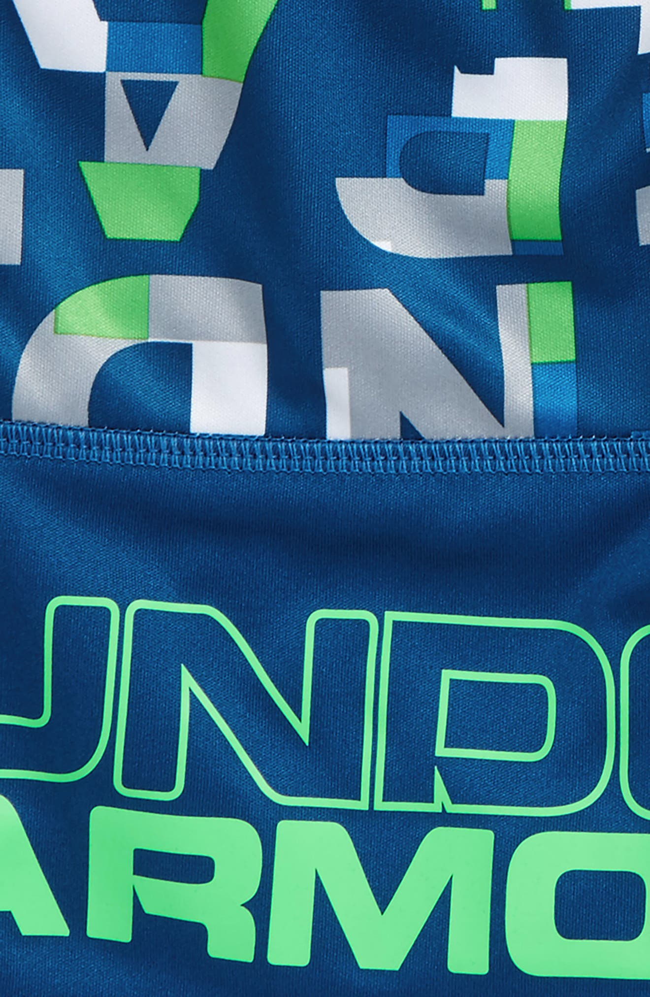 Wordmark Stunt HeatGear<sup>®</sup> Shorts,                             Alternate thumbnail 2, color,                             Moroccan Blue Wordmark