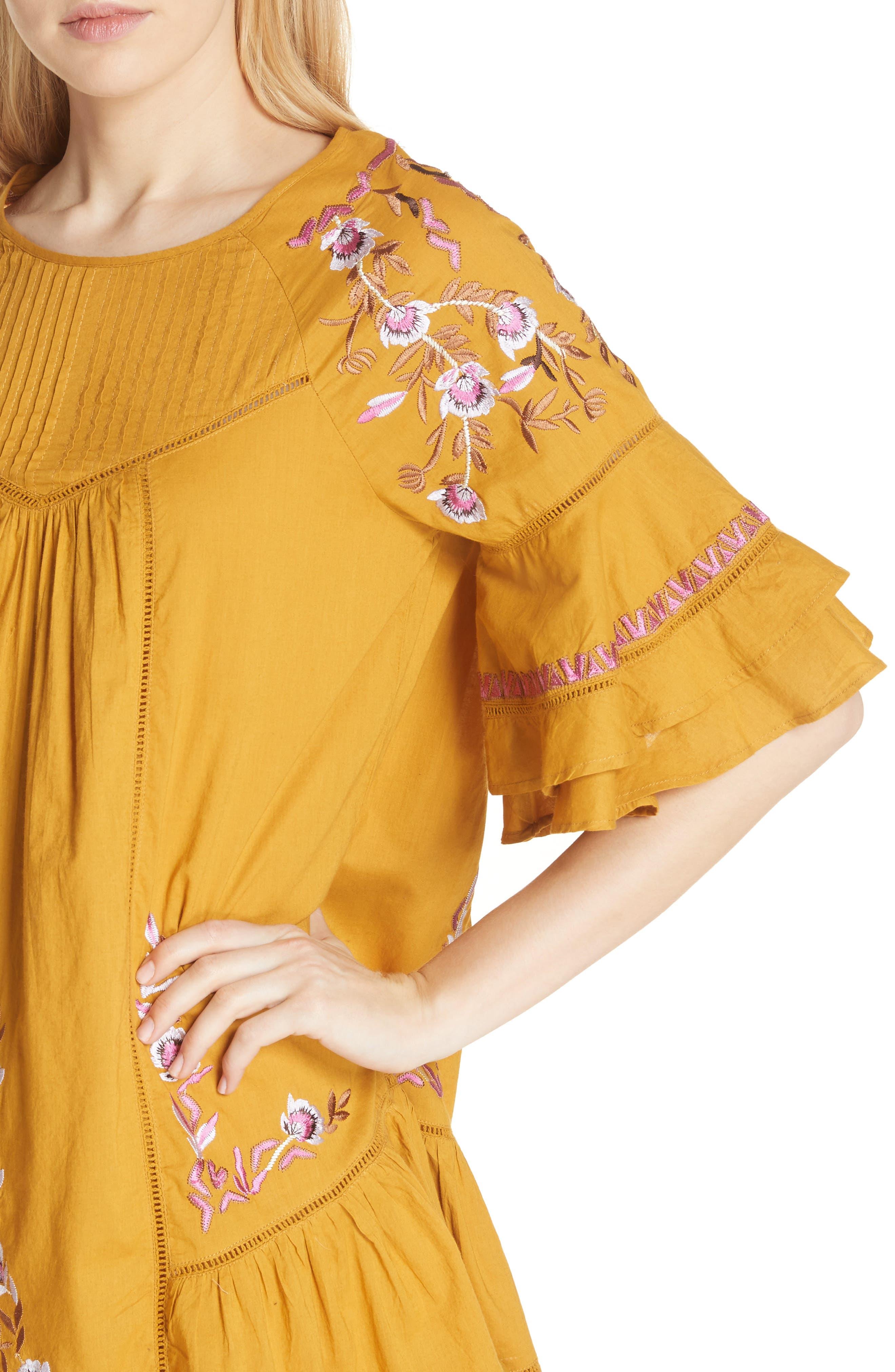 Alternate Image 4  - Free People Pavlo Babydoll Dress