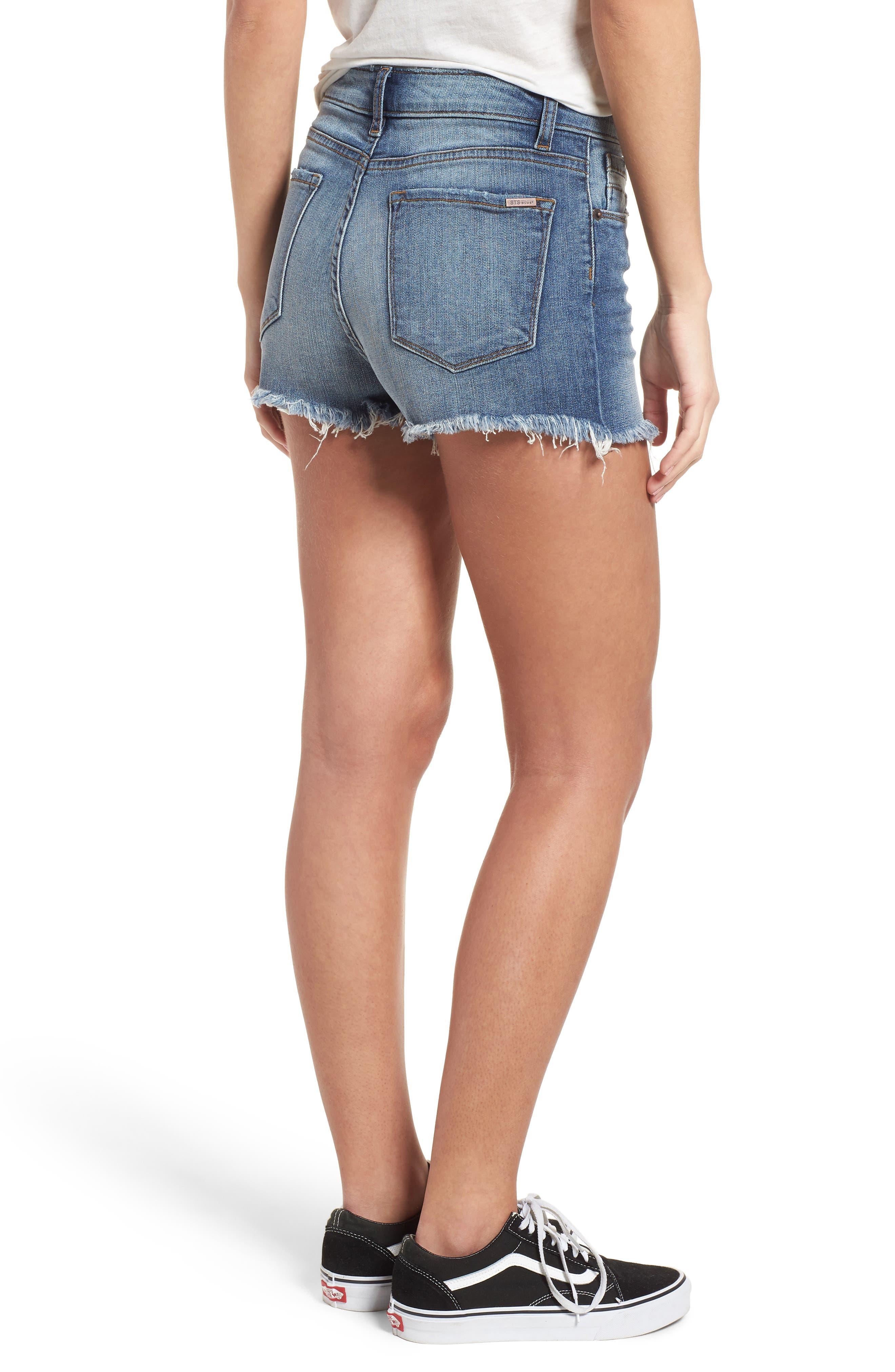 Alternate Image 2  - STS Blue Embellished Denim Shorts