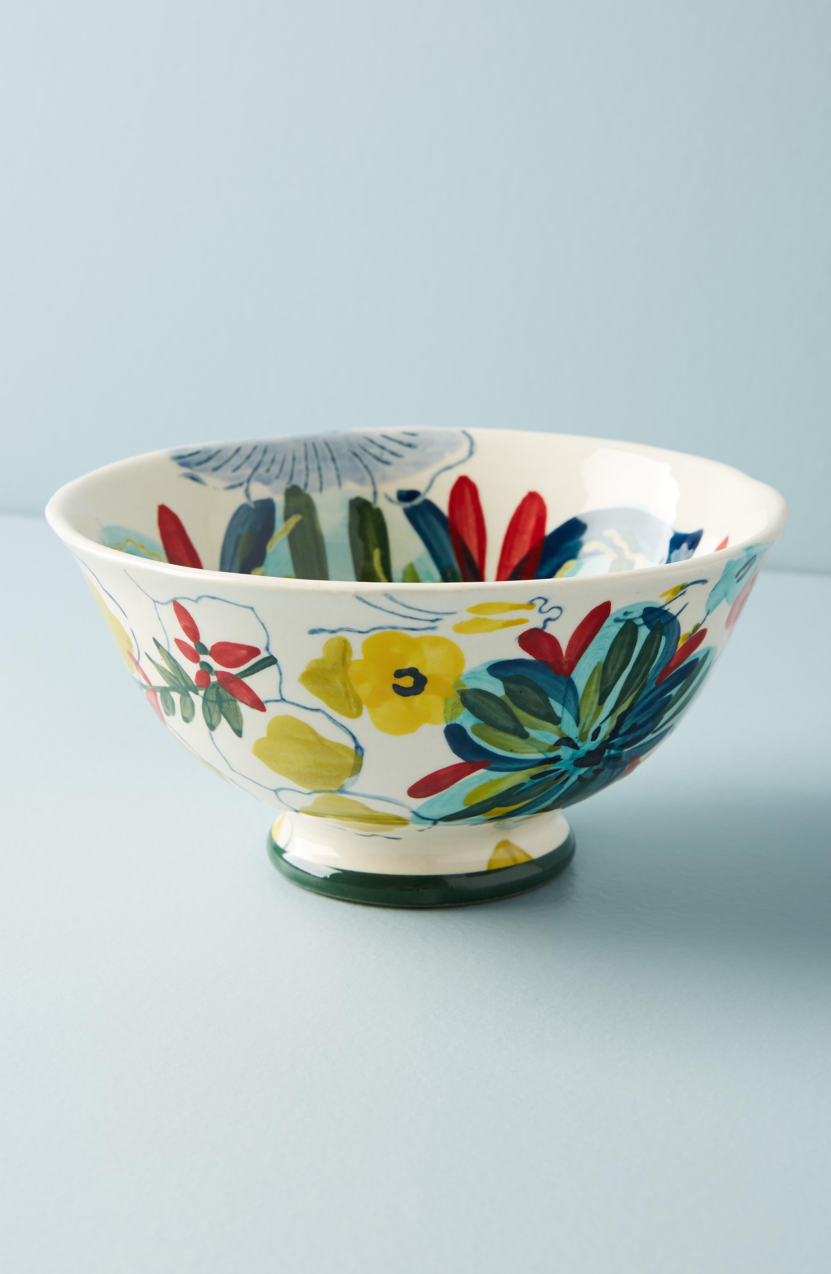 Sissinghurst Castle Stoneware Cereal Bowl,                             Main thumbnail 1, color,                             Navy Multi