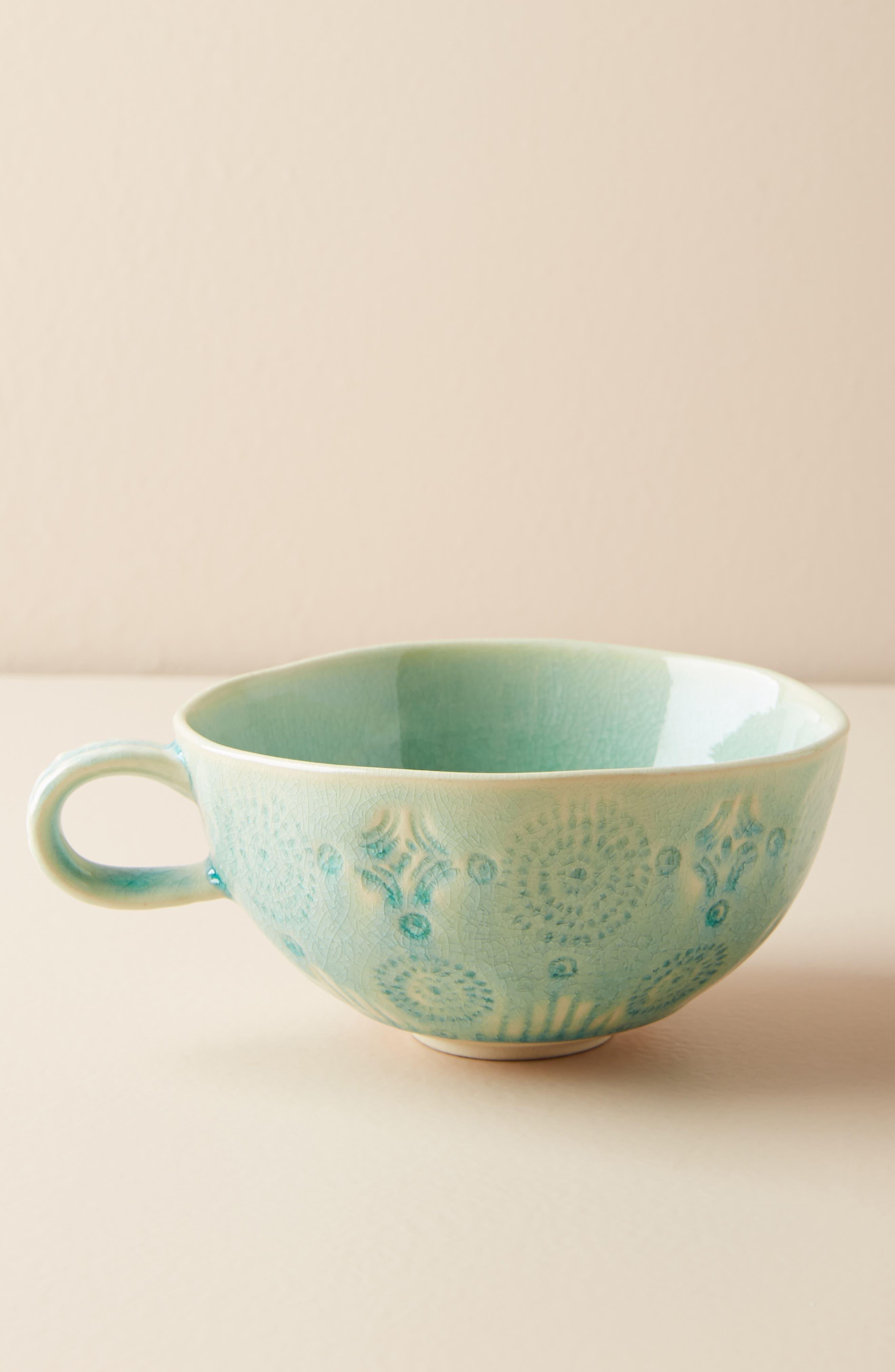 Old Havana Stoneware Mug,                         Main,                         color, Mint