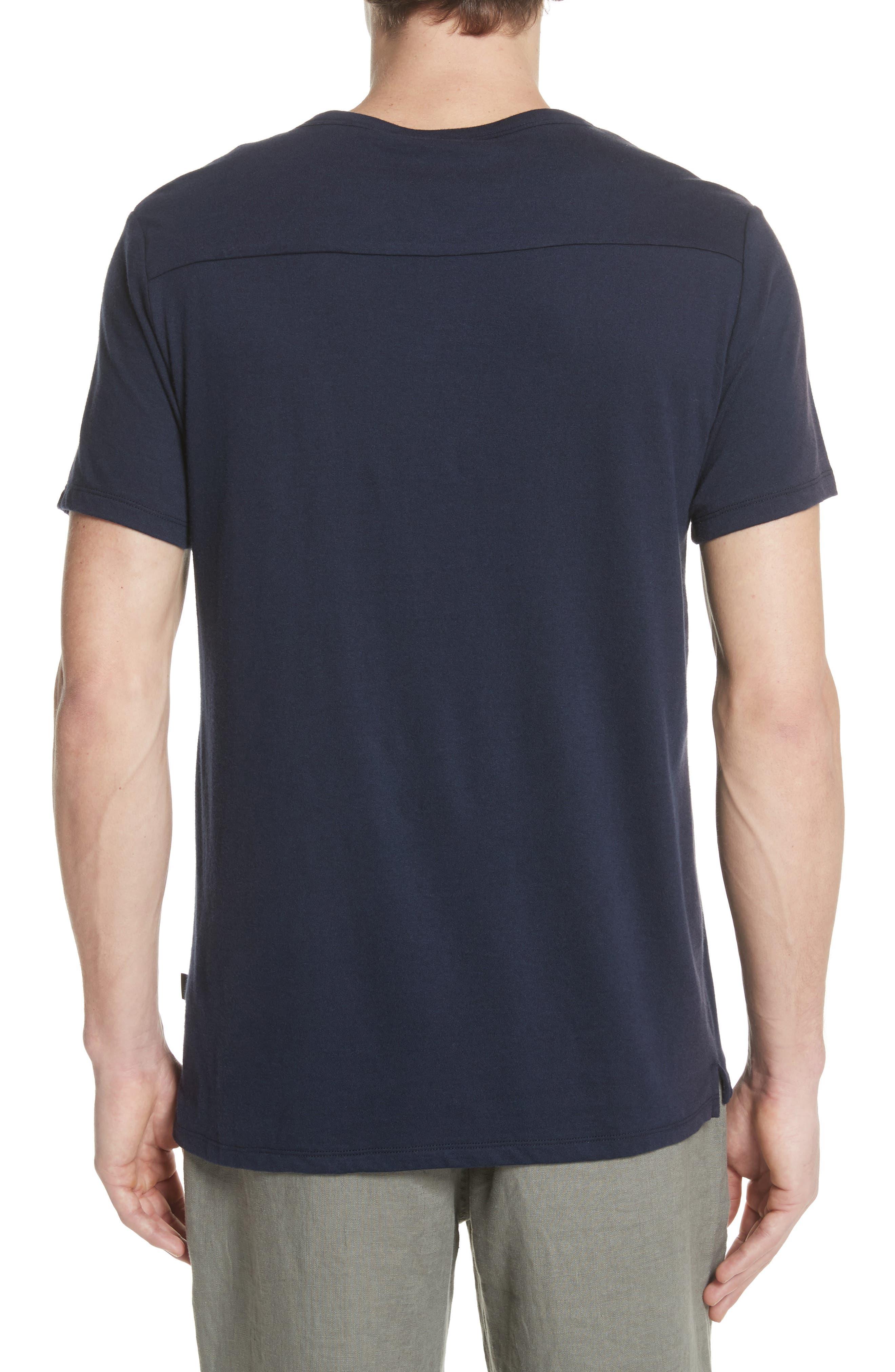 Elliott Henley T-Shirt,                             Alternate thumbnail 2, color,                             Deep Navy