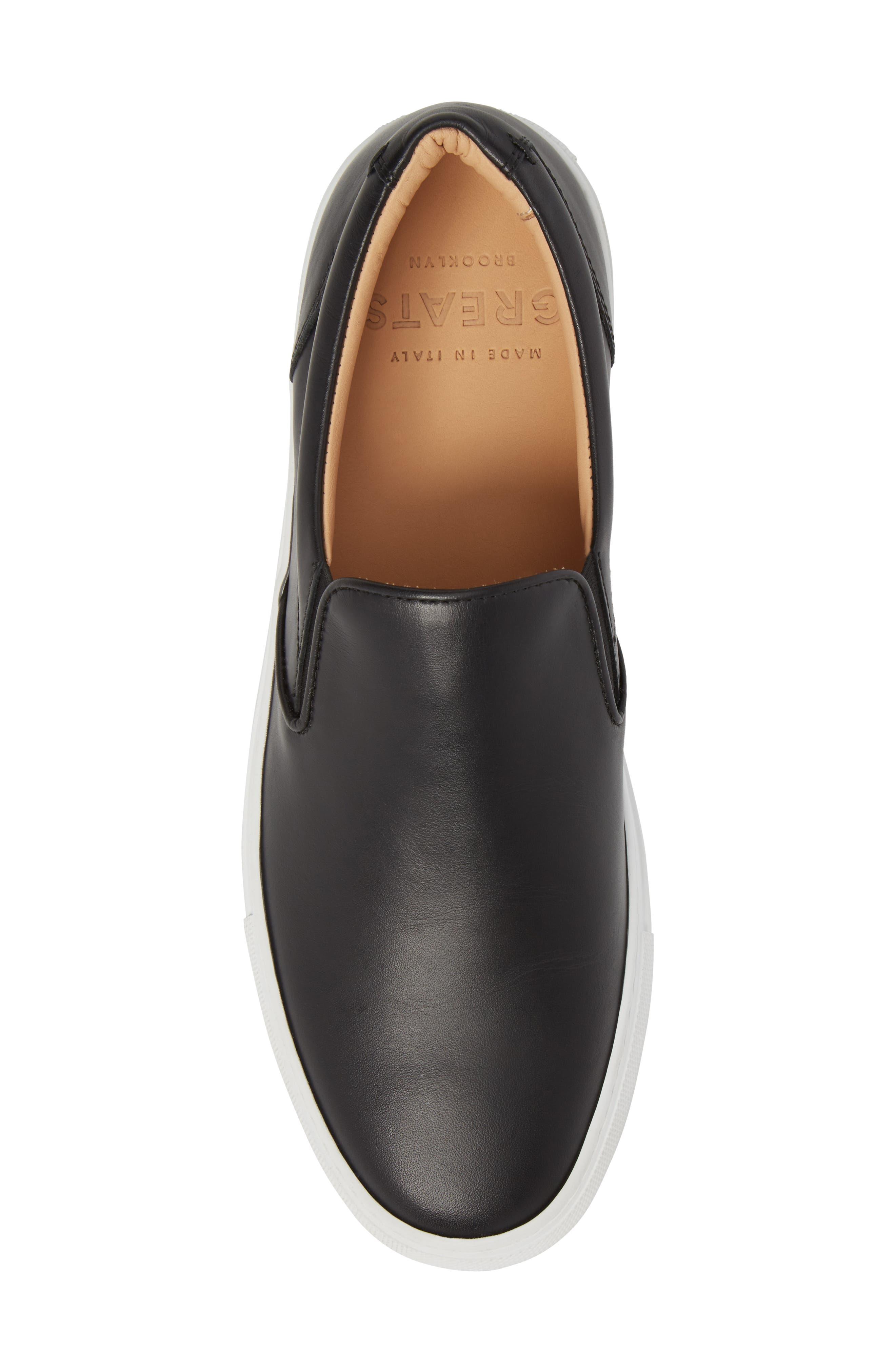 Wooster Slip-On Sneaker,                             Alternate thumbnail 5, color,                             Black Leather