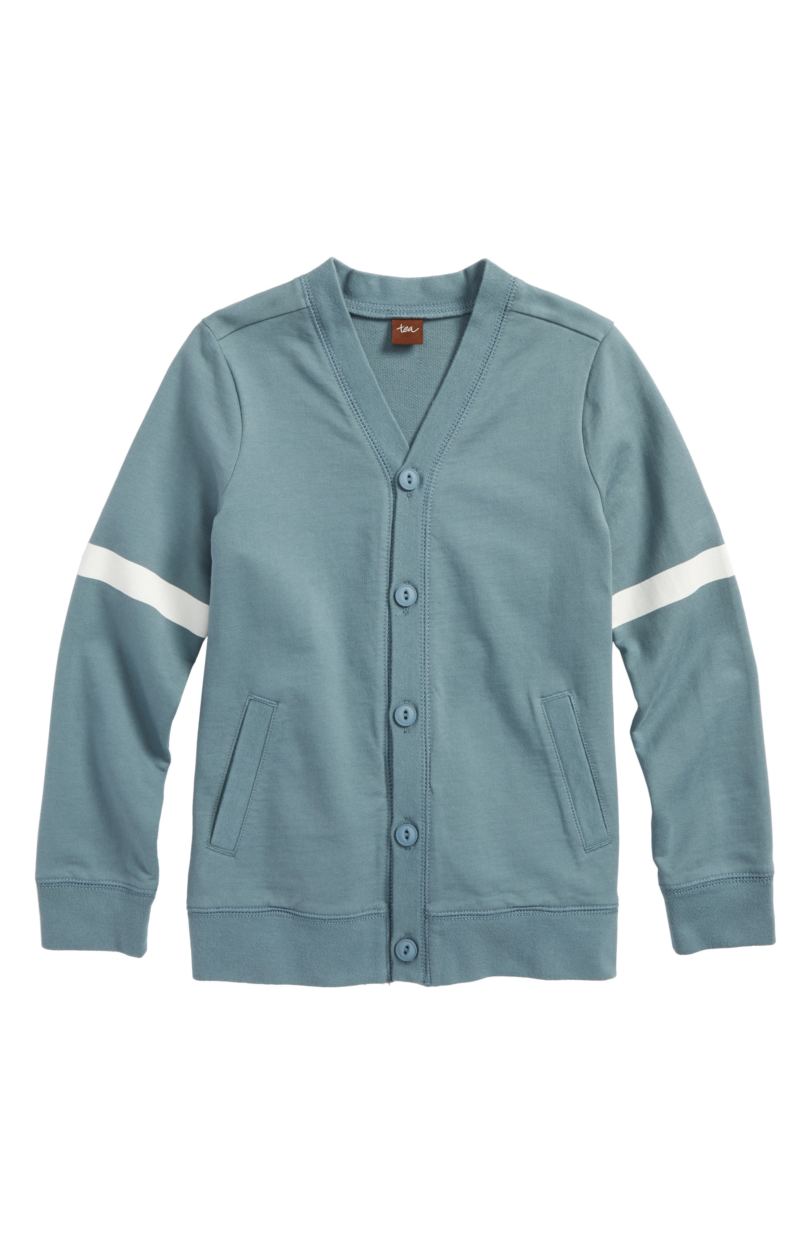 Alternate Image 1 Selected - Tea Collection Button Front Varsity Cardigan (Toddler Boys & Little Boys)