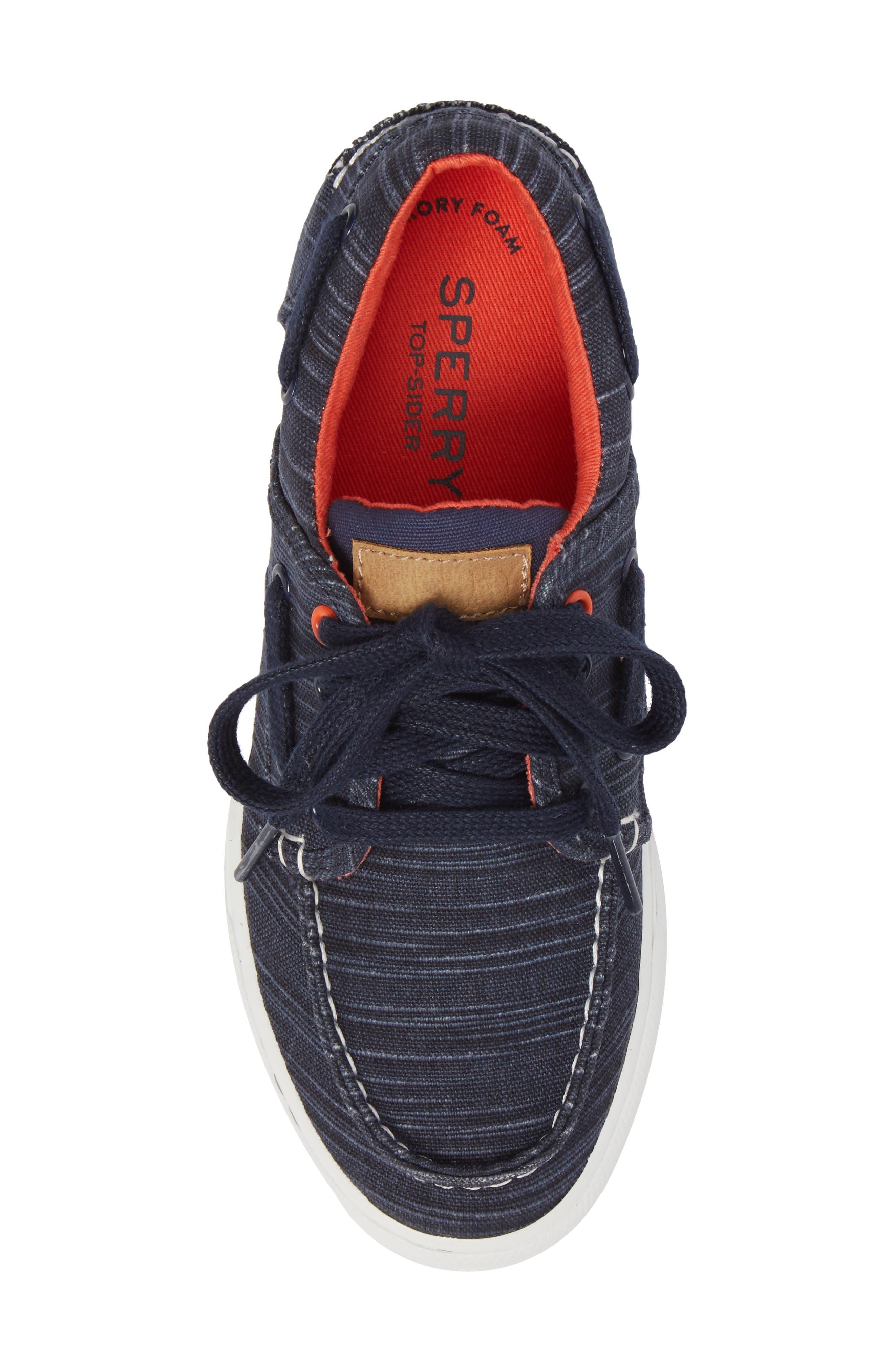 Striper II Boat Shoe,                             Alternate thumbnail 5, color,                             Navy