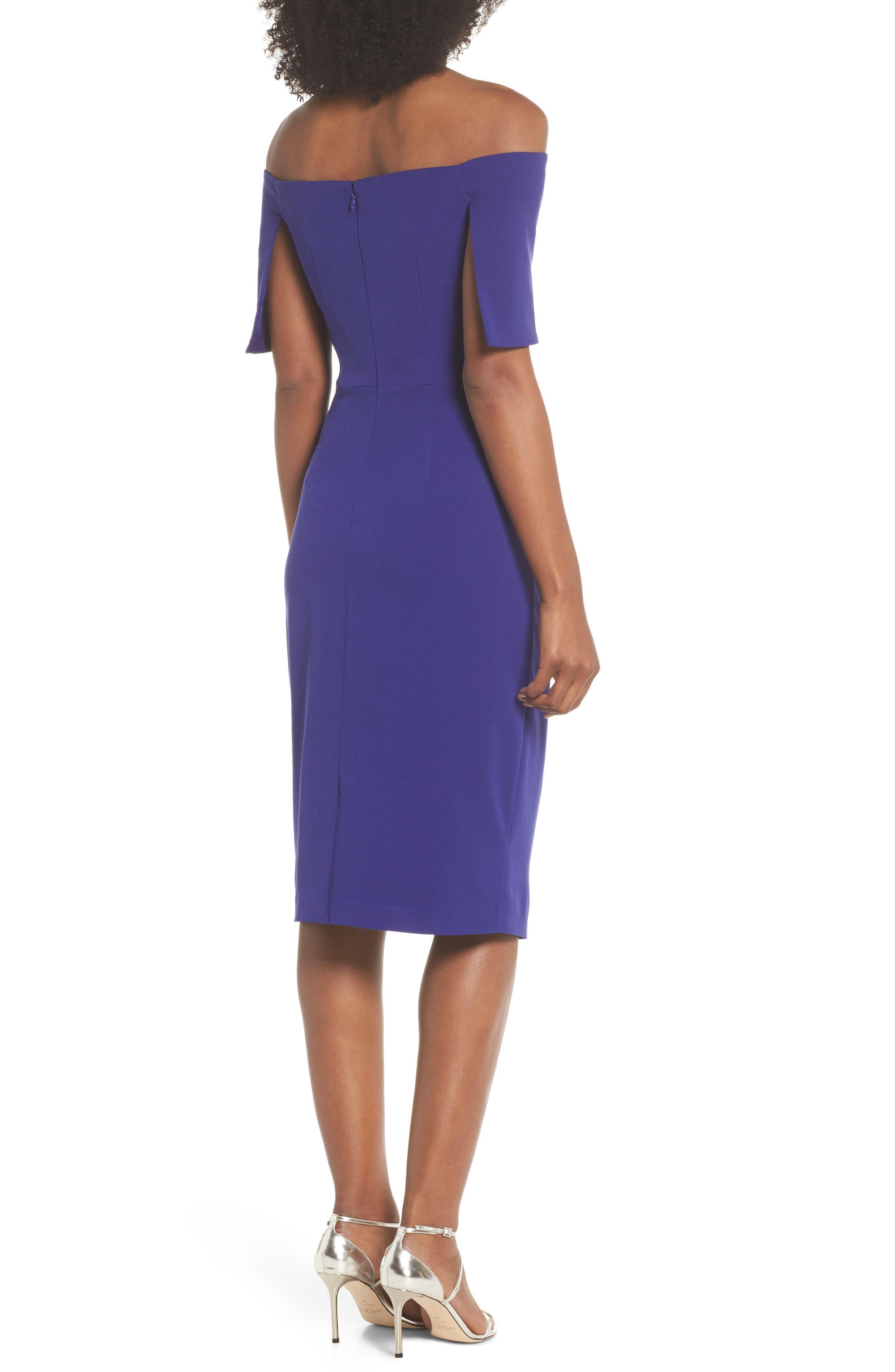 Alternate Image 2  - Vince Camuto Popover Midi Dress