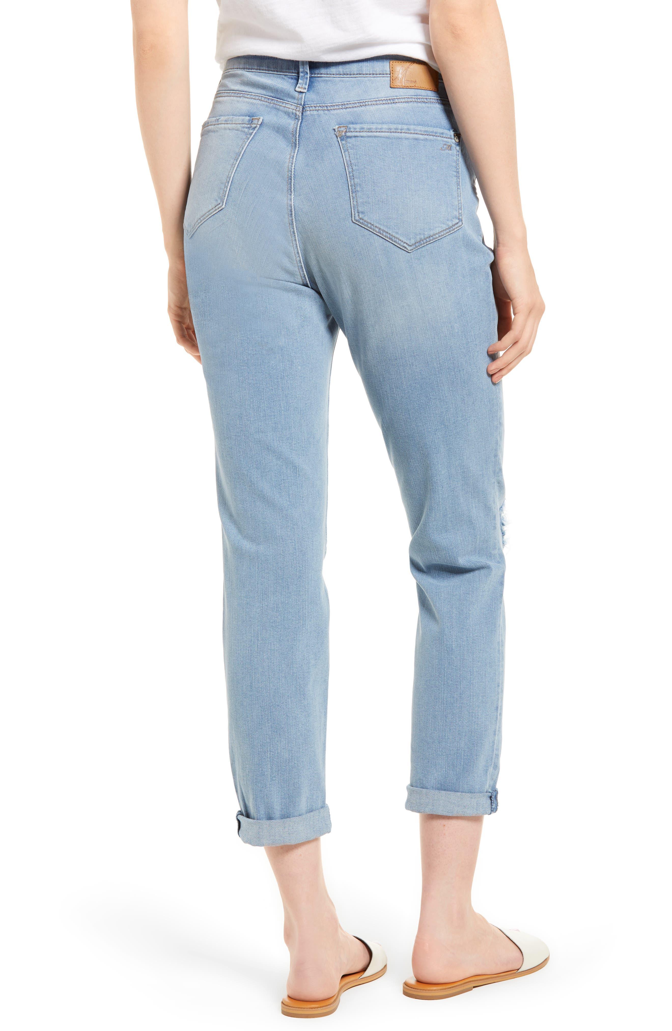 Lea Boyfriend Ripped Jeans,                             Alternate thumbnail 2, color,                             Light Ripped Vintage