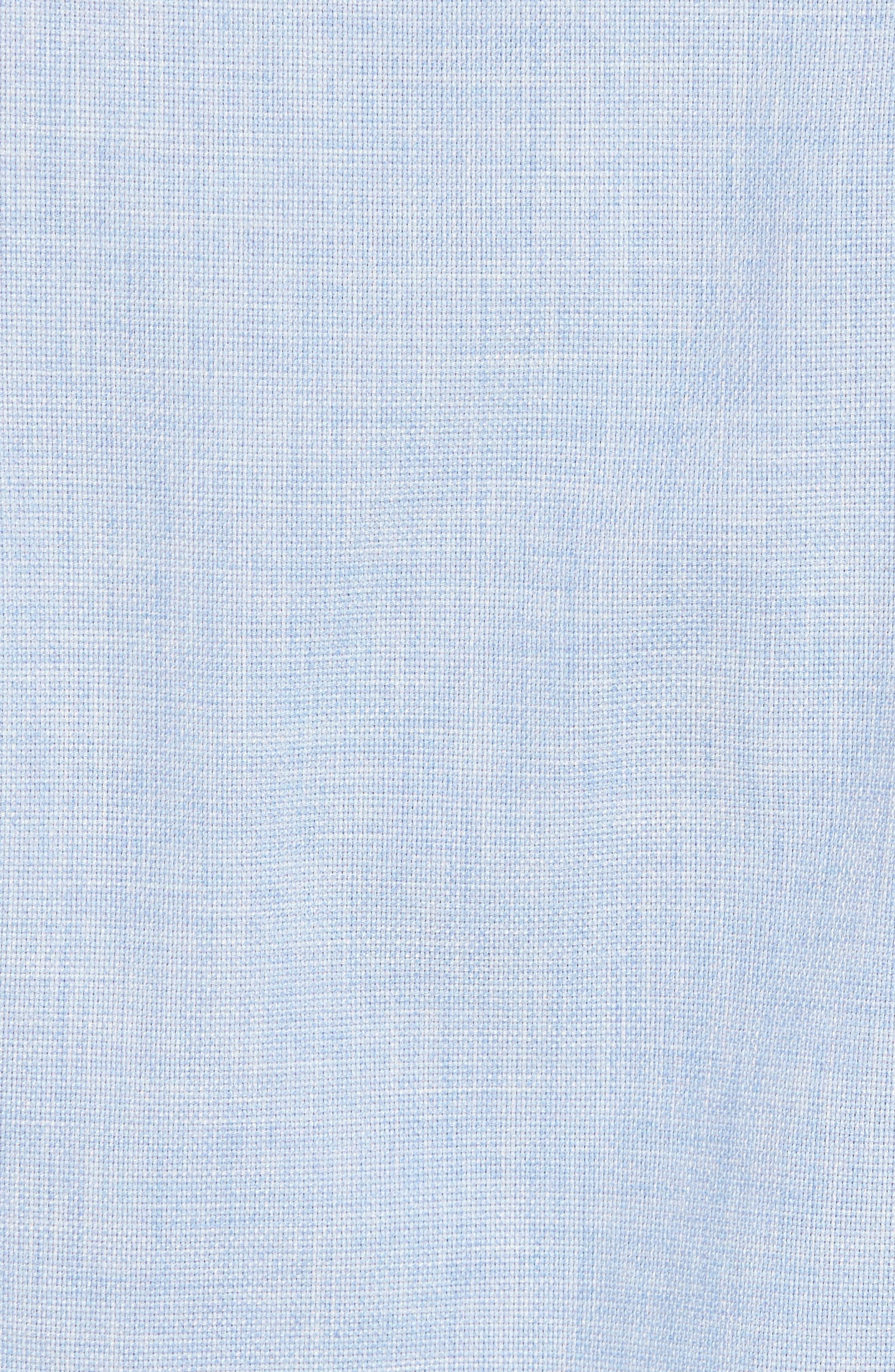Regular Fit Garment Washed Mélange Sport Shirt,                             Alternate thumbnail 5, color,                             Sky
