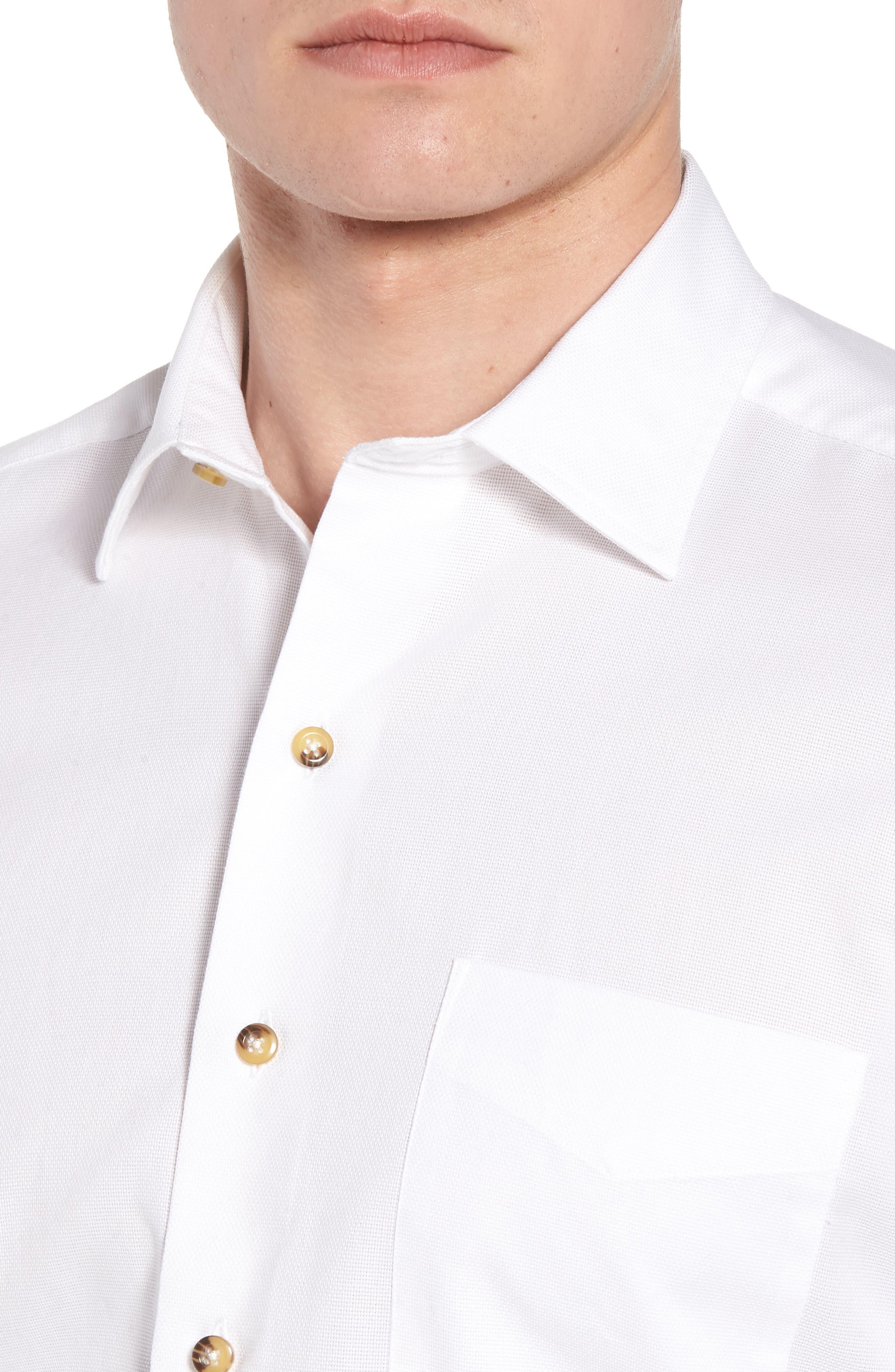 Regular Fit Garment Washed Sport Shirt,                             Alternate thumbnail 4, color,                             White