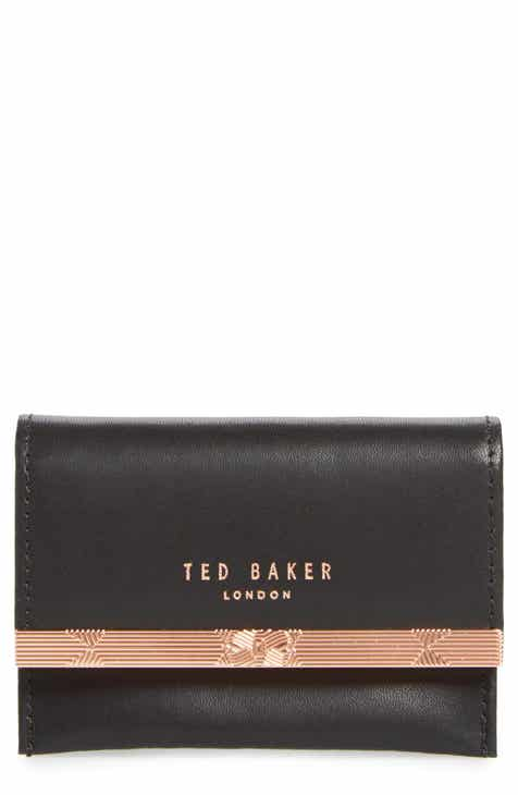 Business card holders ted baker london niccole accordion leather card case colourmoves