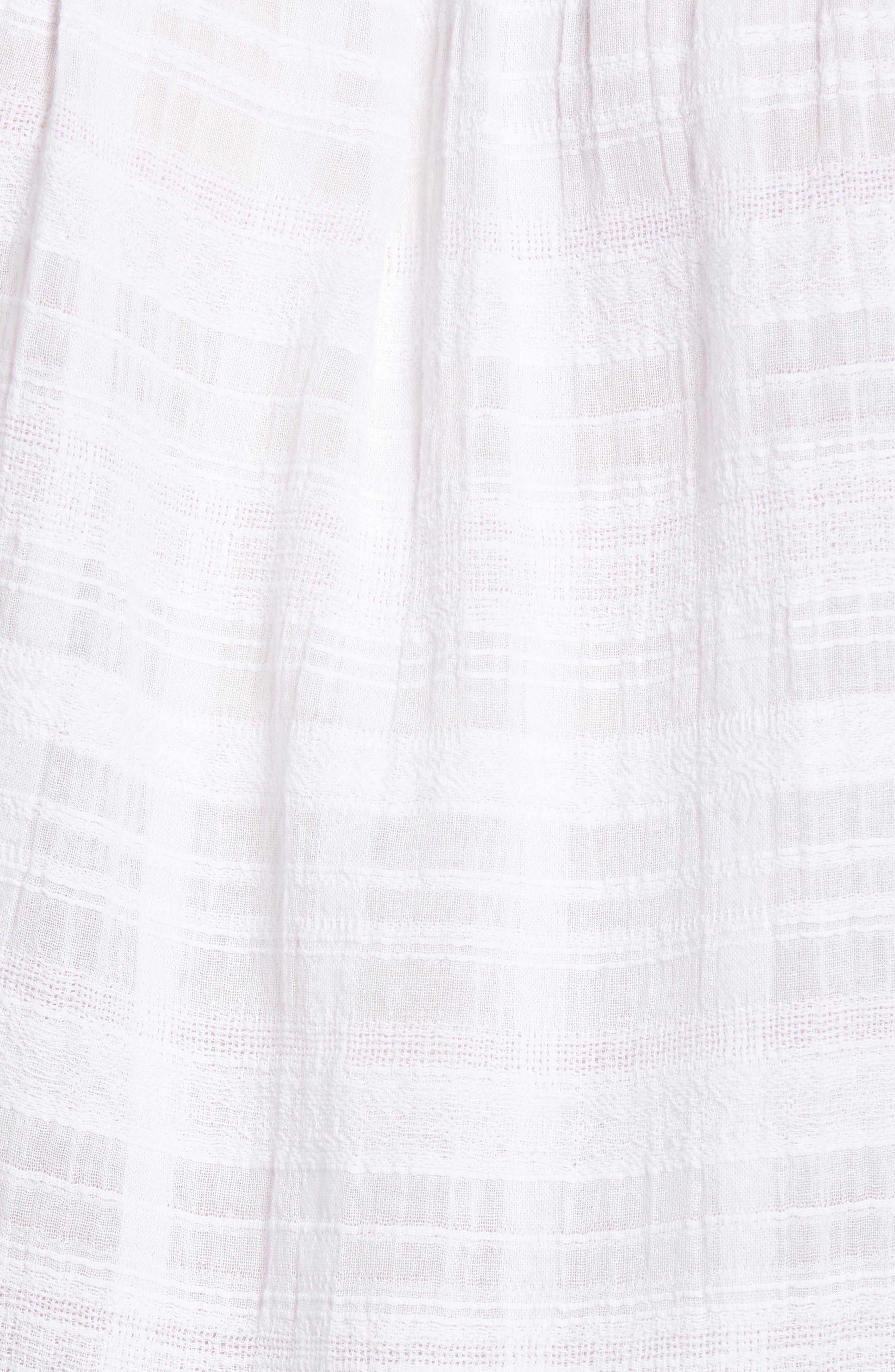 Square Neck Lace Trim Blouse,                             Alternate thumbnail 6, color,                             Ultra White