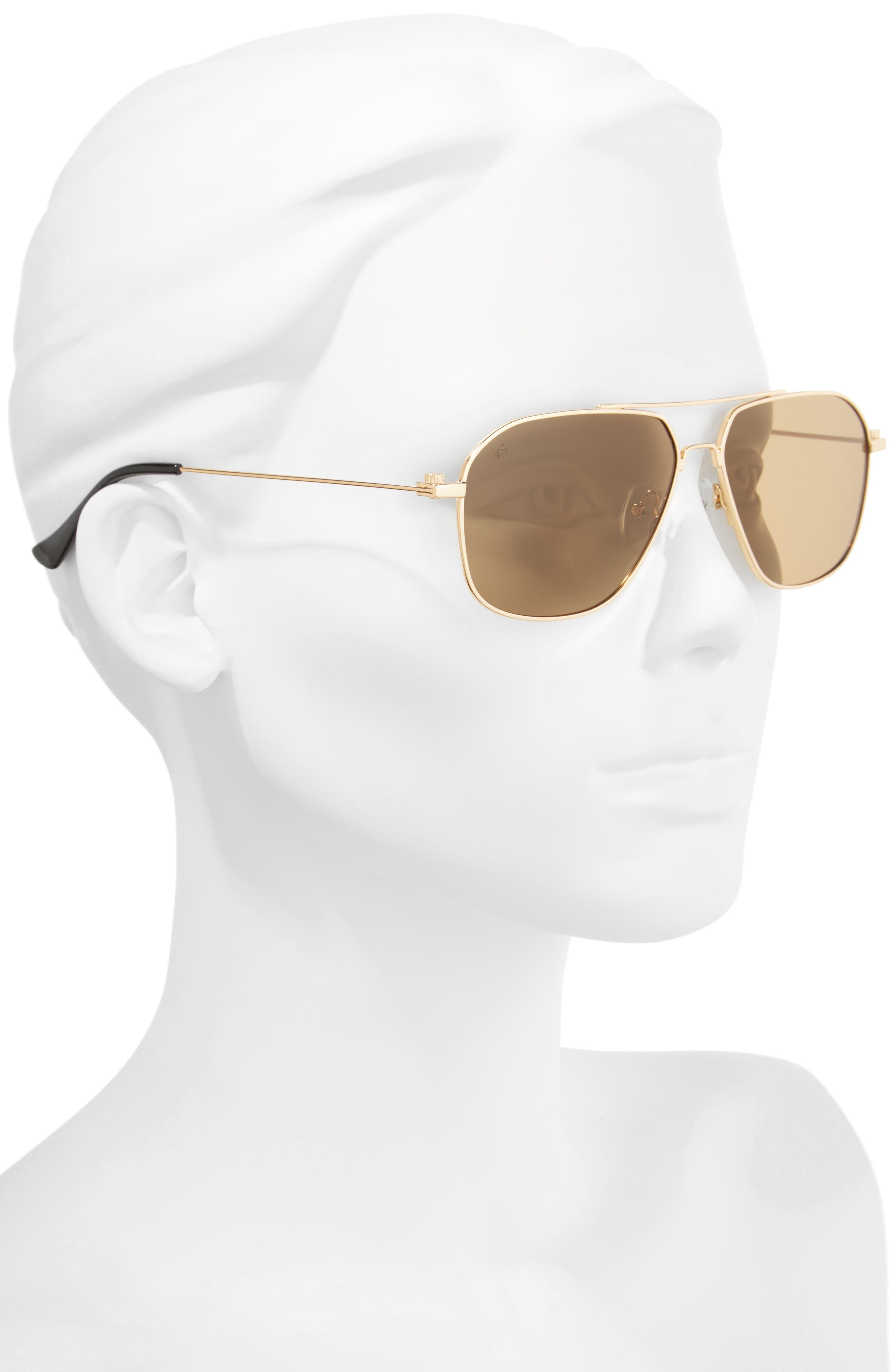 Privé Revaux The Marquise 58mm Aviator Sunglasses,                             Alternate thumbnail 2, color,                             Metal/ Gold